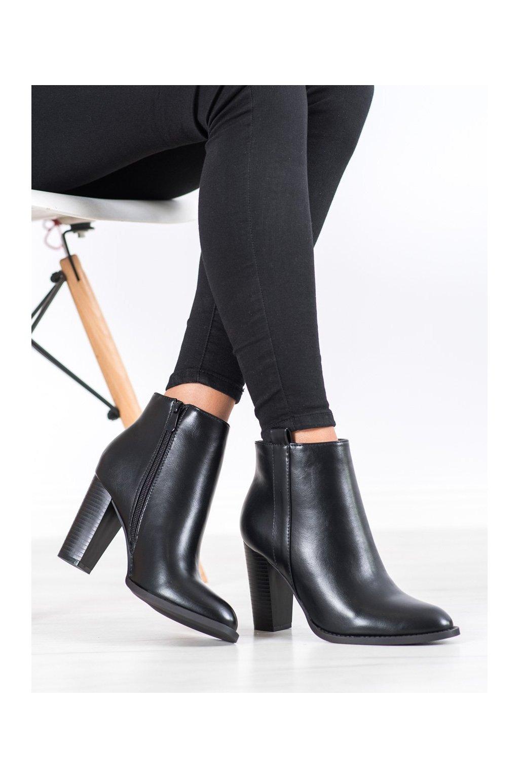 Čierne dámske topánky Seastar kod UK08B