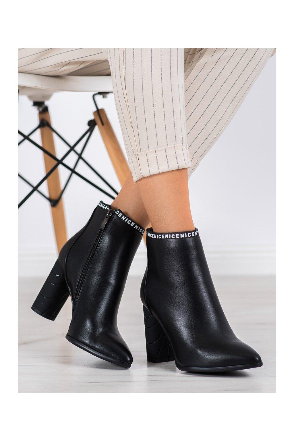 Čierne dámske topánky Filippo kod DBT1547/20B