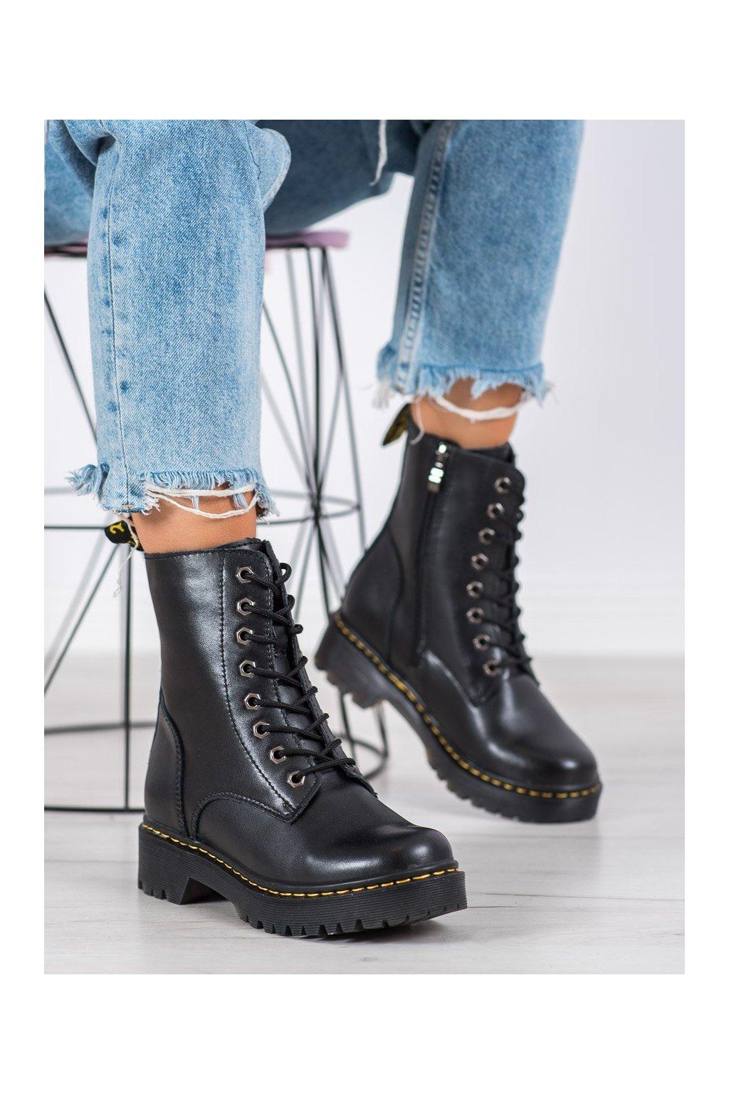 Čierne dámske topánky Mckey kod GL438/20B