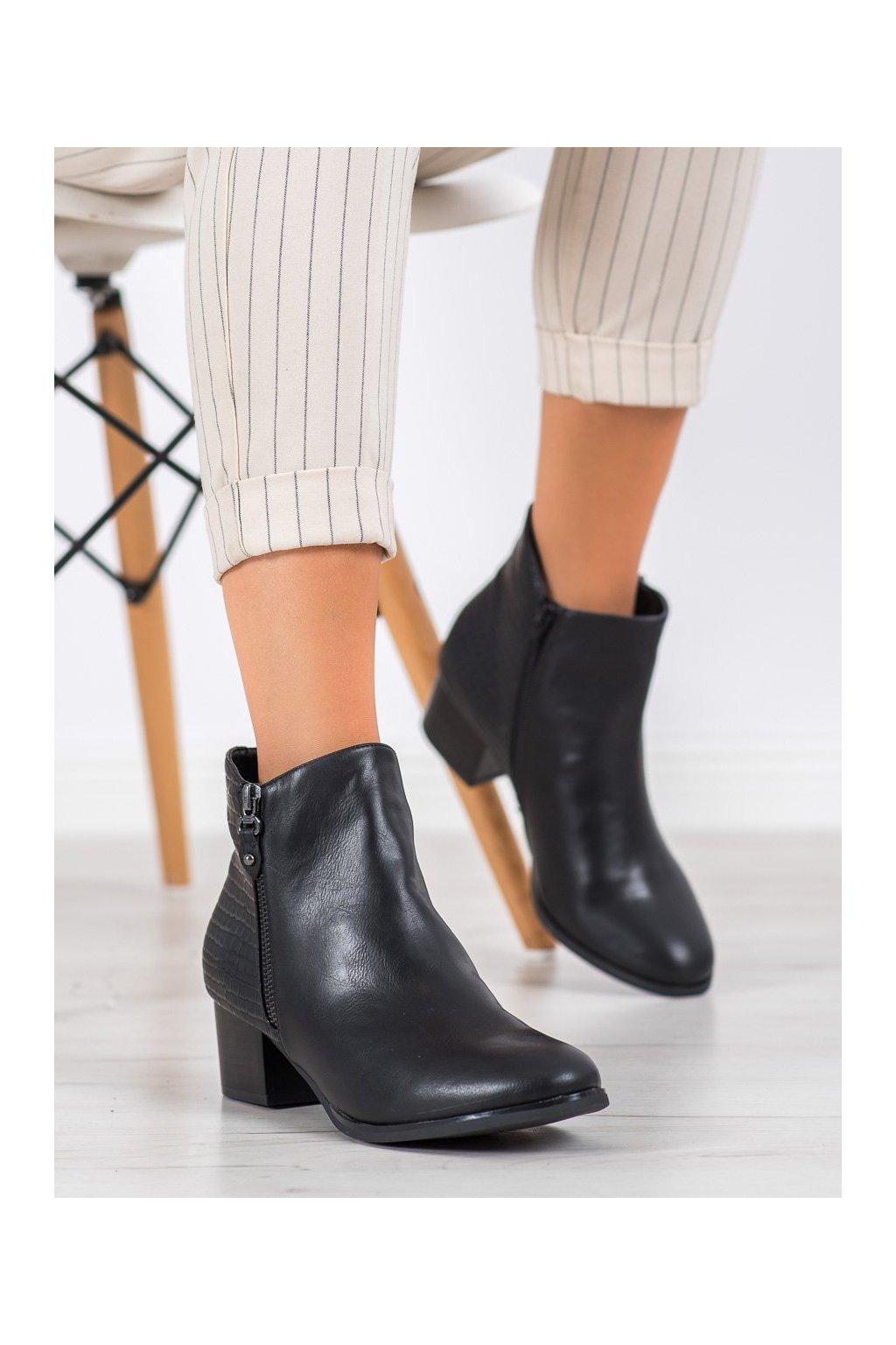Čierne dámske topánky Kylie kod K1938602NE-PIEL