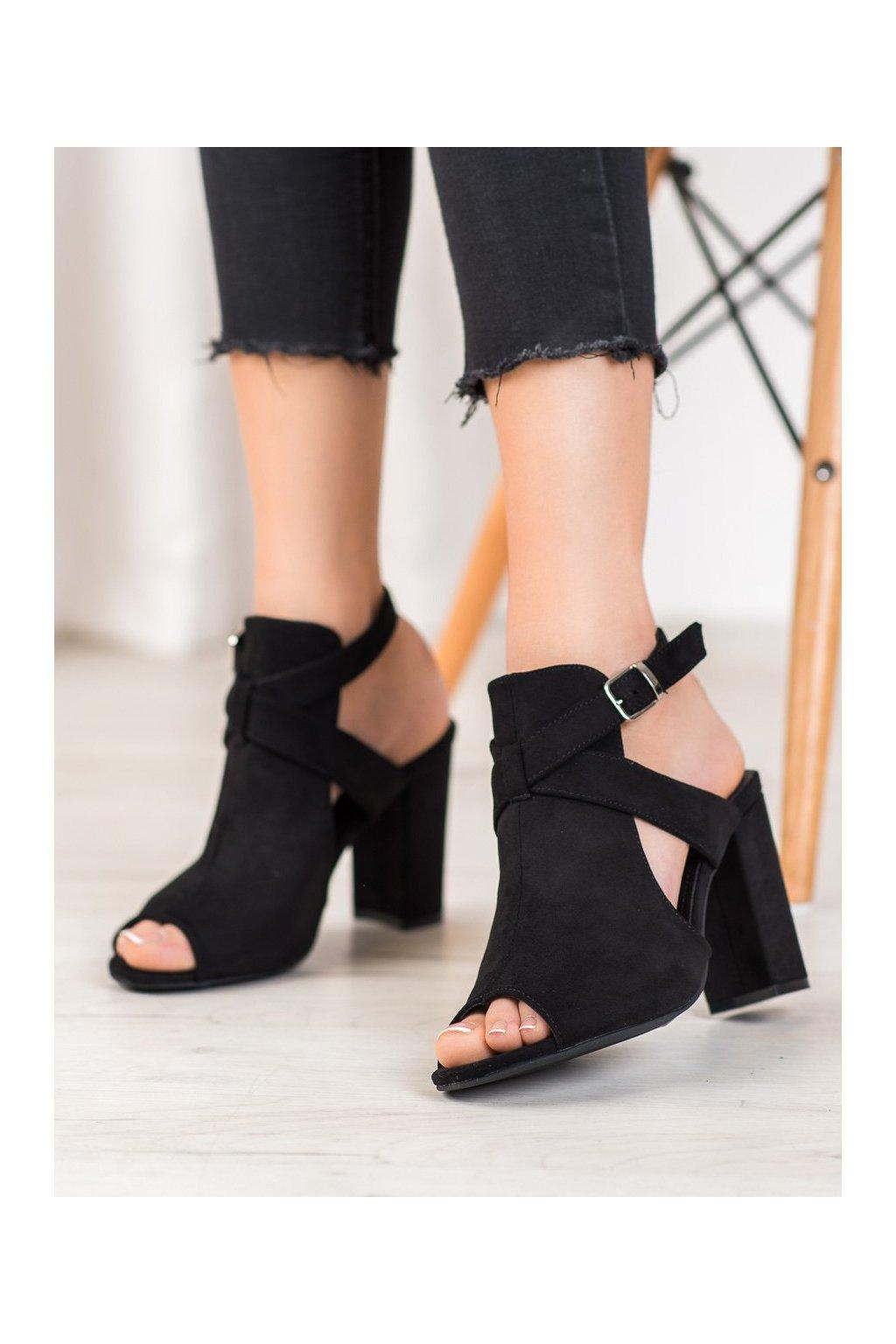 Čierne sandále Seastar NJSK NS110B