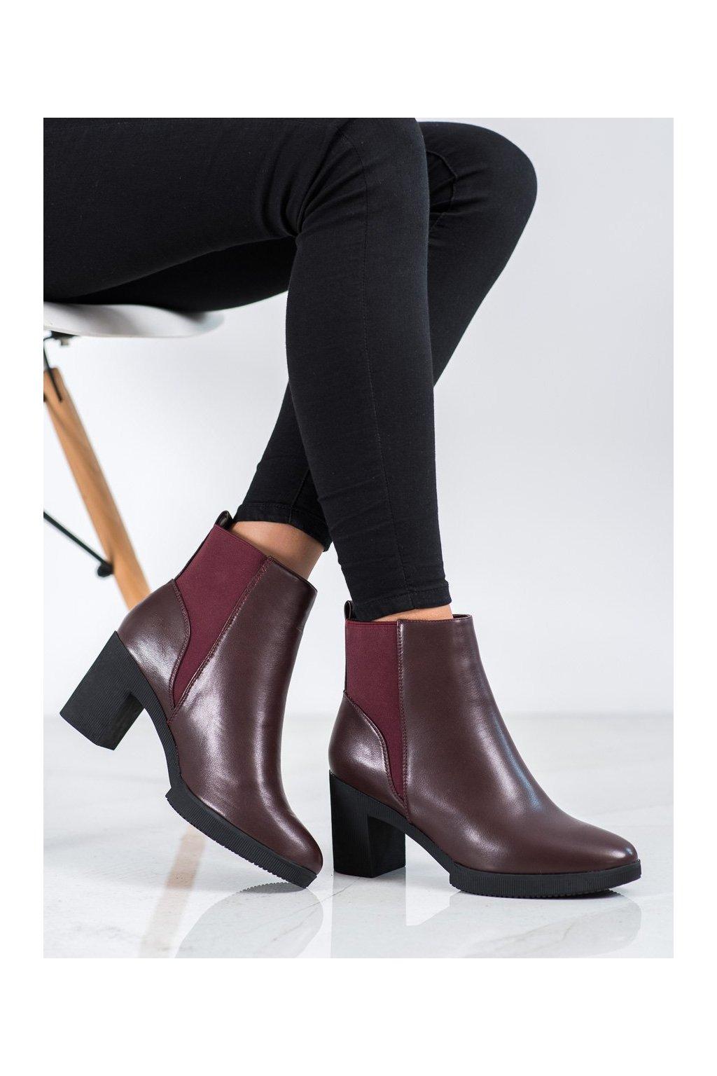 Červené dámske topánky Kylie kod K1906911BUR