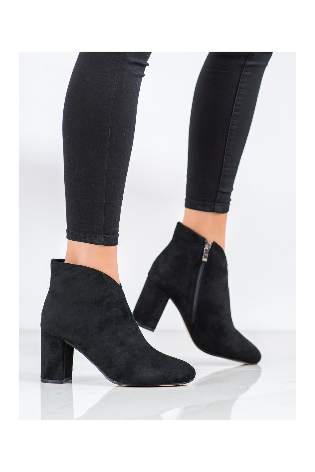 Čierne dámske topánky Shelovet kod W63018B