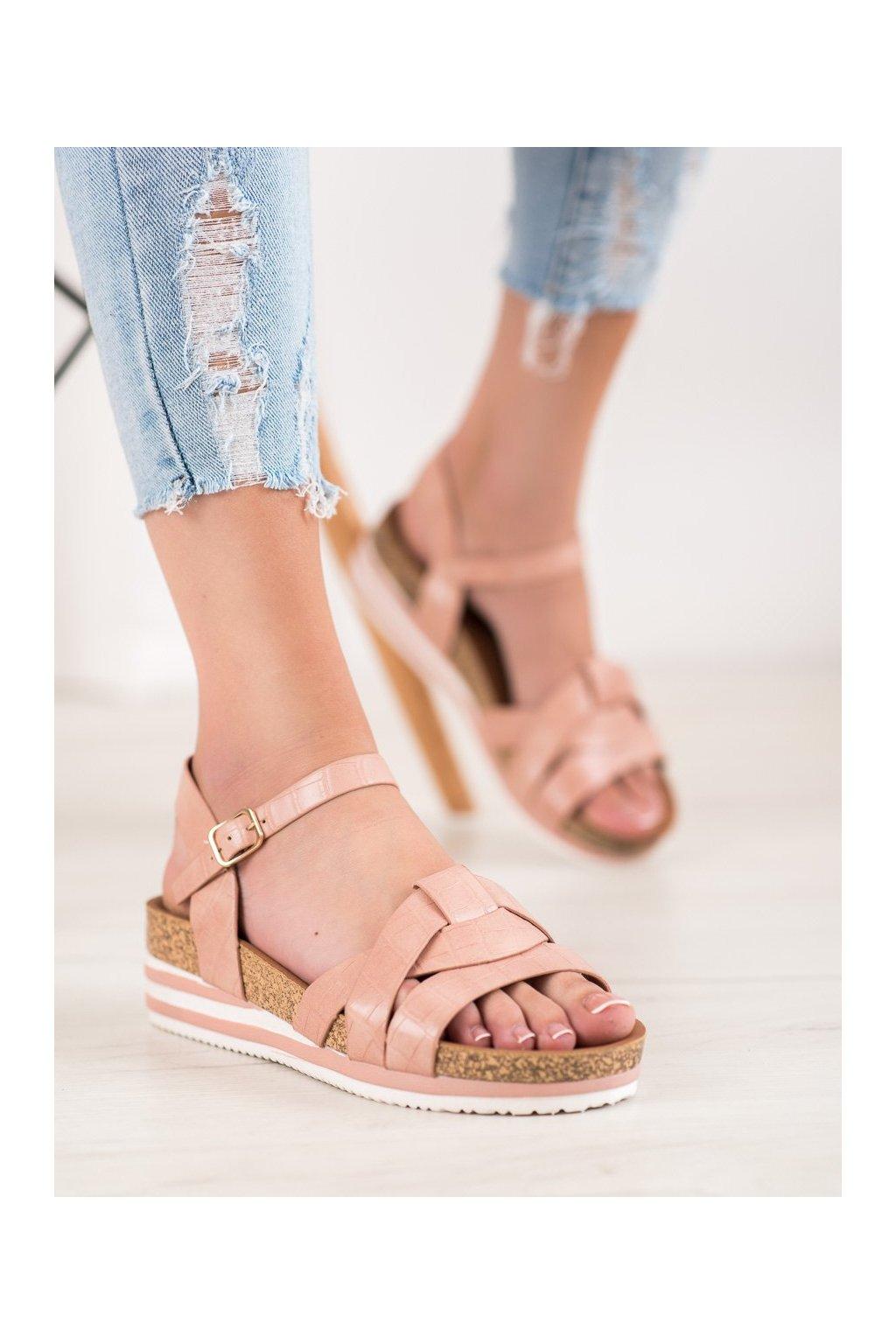 Ružové sandále Comer NJSK ALS037P