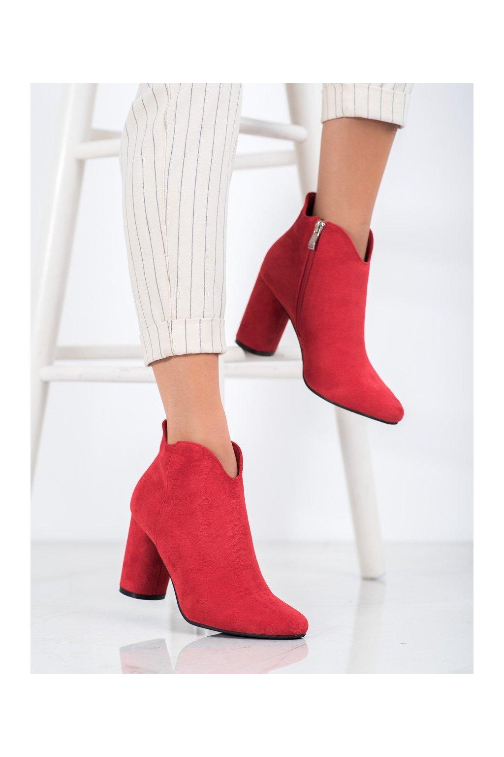 Červené dámske topánky Filippo kod DBT1538/20R
