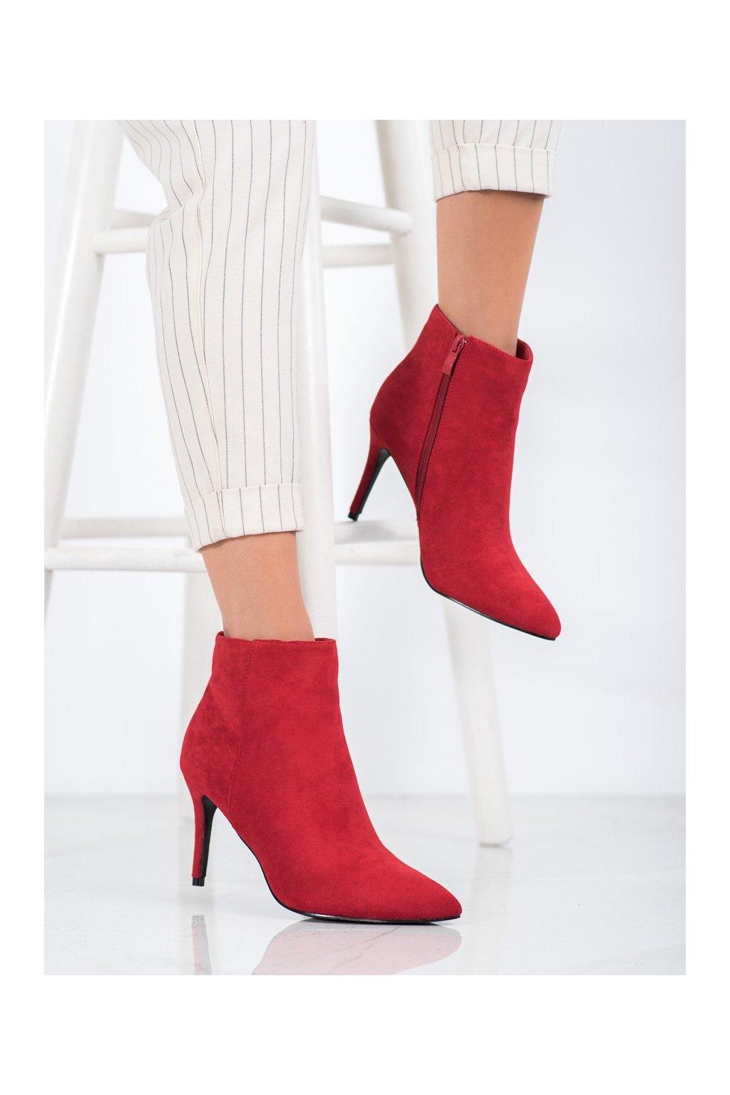 Červené dámske topánky Sweet shoes kod 9468R