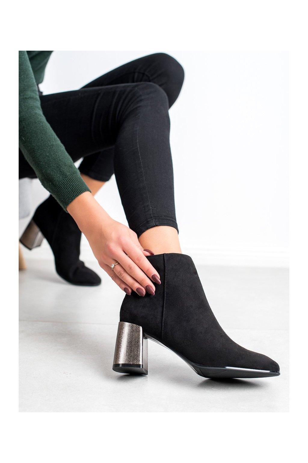 Čierne dámske topánky Goodin kod KW-12B