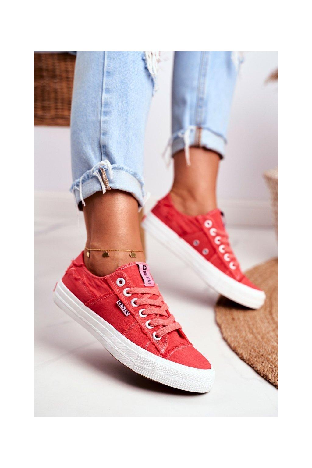 Dámske tenisky farba červená kód obuvi DD274449 RED