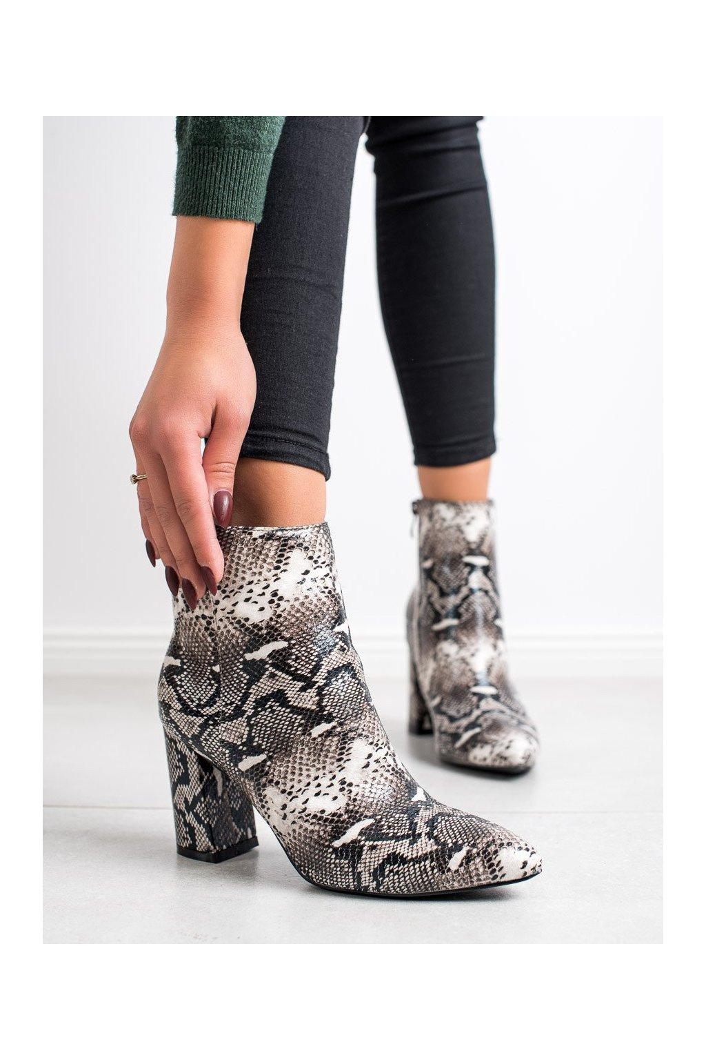 Sivé dámske topánky Goodin kod OD-65G