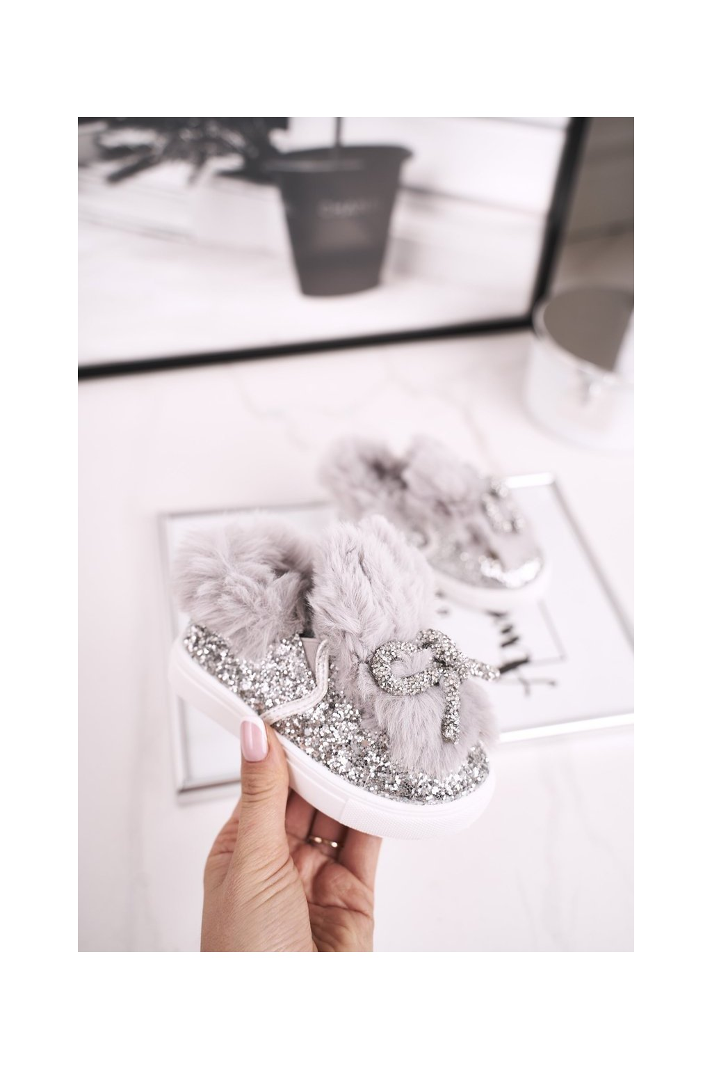 Detské tenisky farba sivá kód obuvi 1576-D GREY