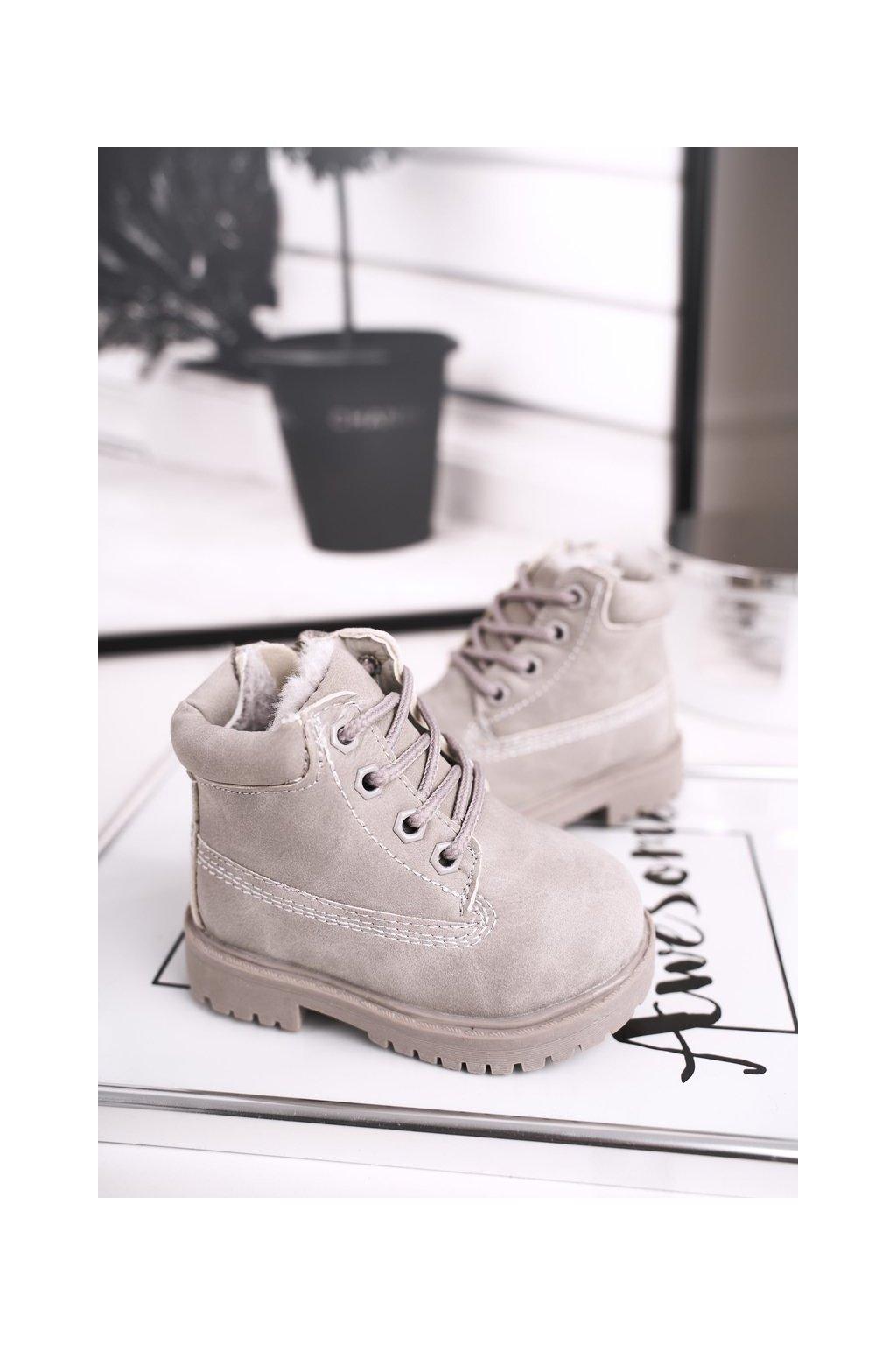 Detské členkové topánky farba sivá kód obuvi 20306-1D/2D/3D GREY
