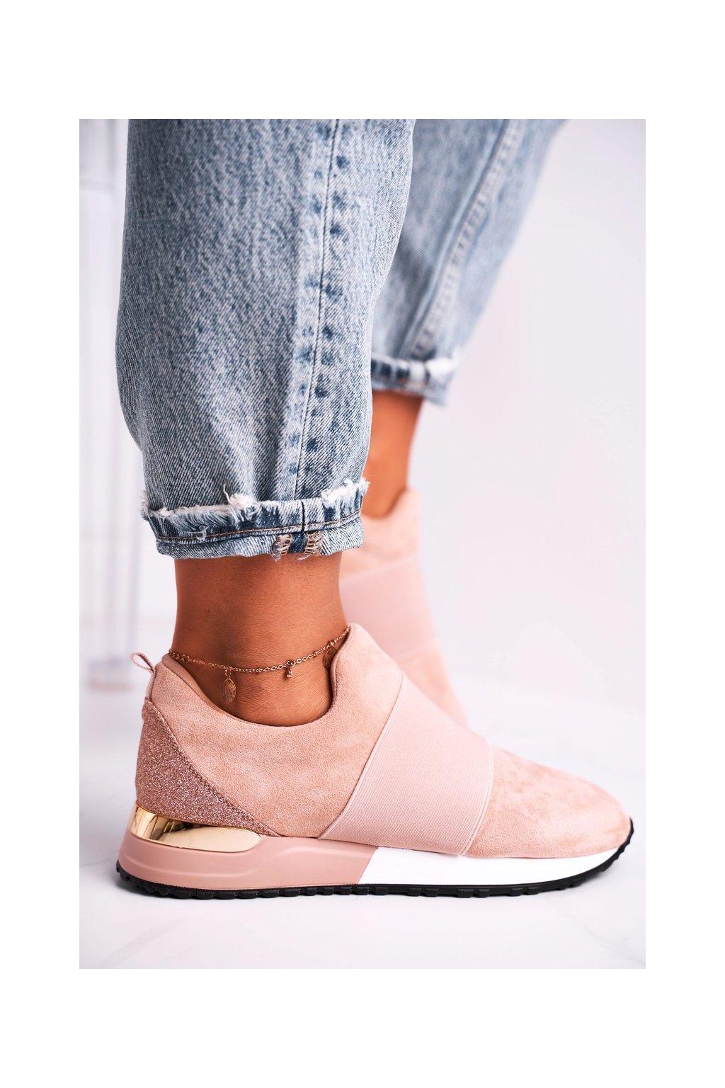 Dámske tenisky farba ružová kód obuvi C2001 PINK