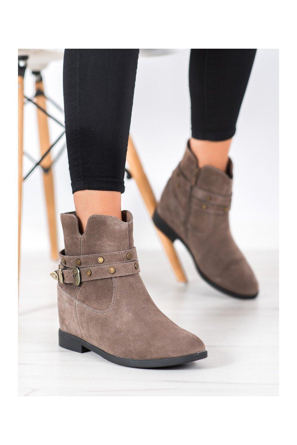Sivé dámske topánky Filippo kod DBT1590/20G