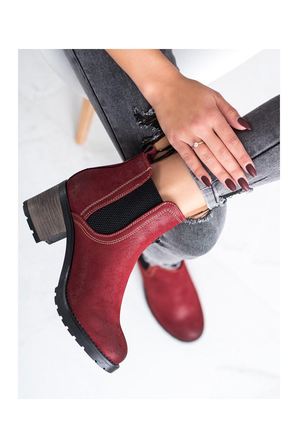 Červené dámske topánky Shelovet kod 20BT35-3029R