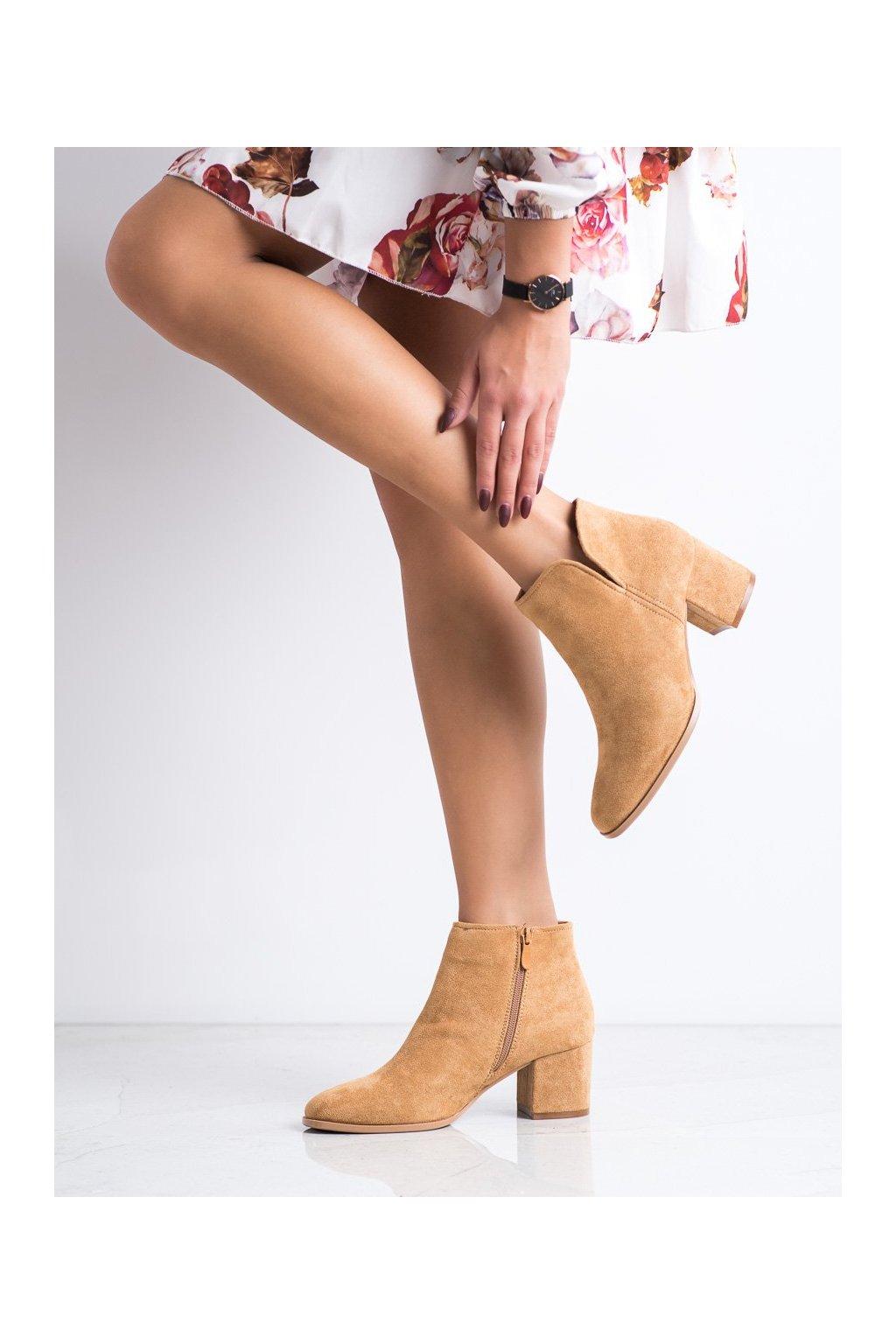 Hnedé dámske topánky Bella paris kod A6205C