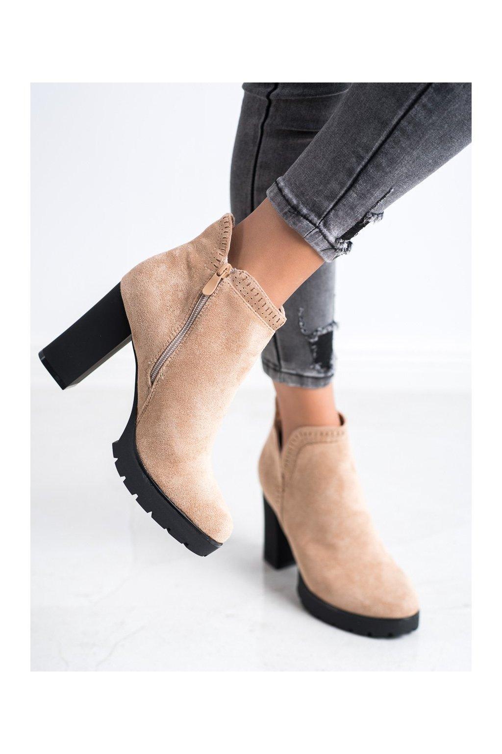 Hnedé dámske topánky Bella paris kod A5801KH