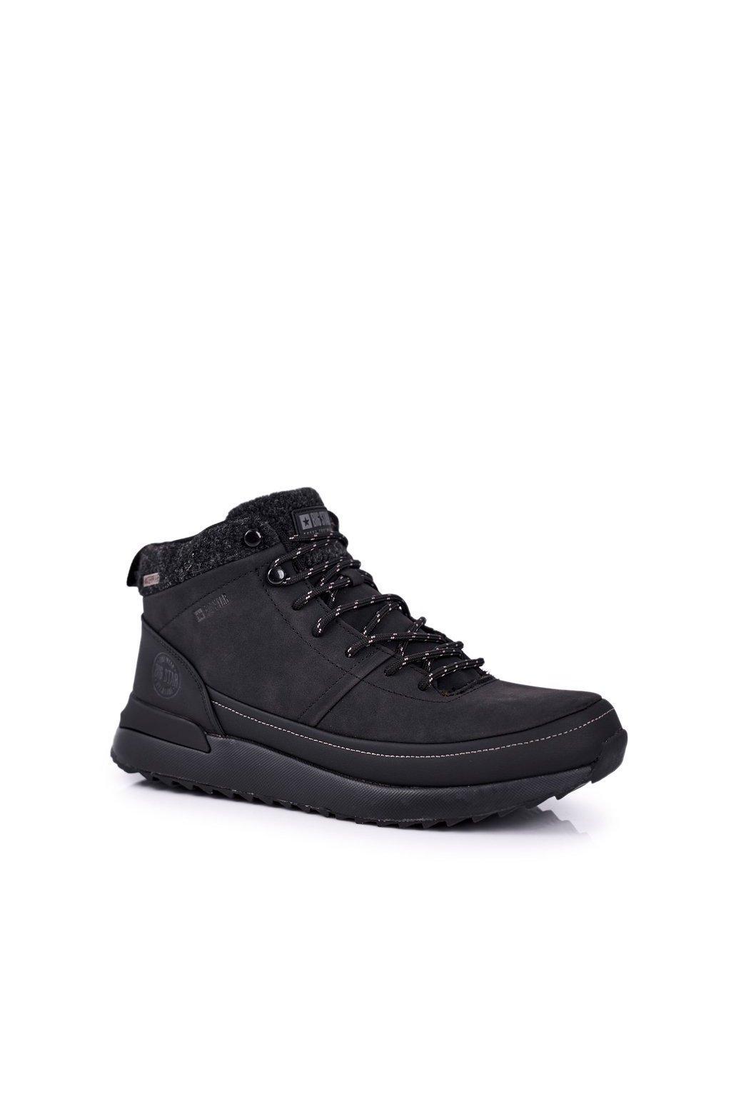 Pánske trekingové topánky farba čierna kód obuvi GG174563 BLK