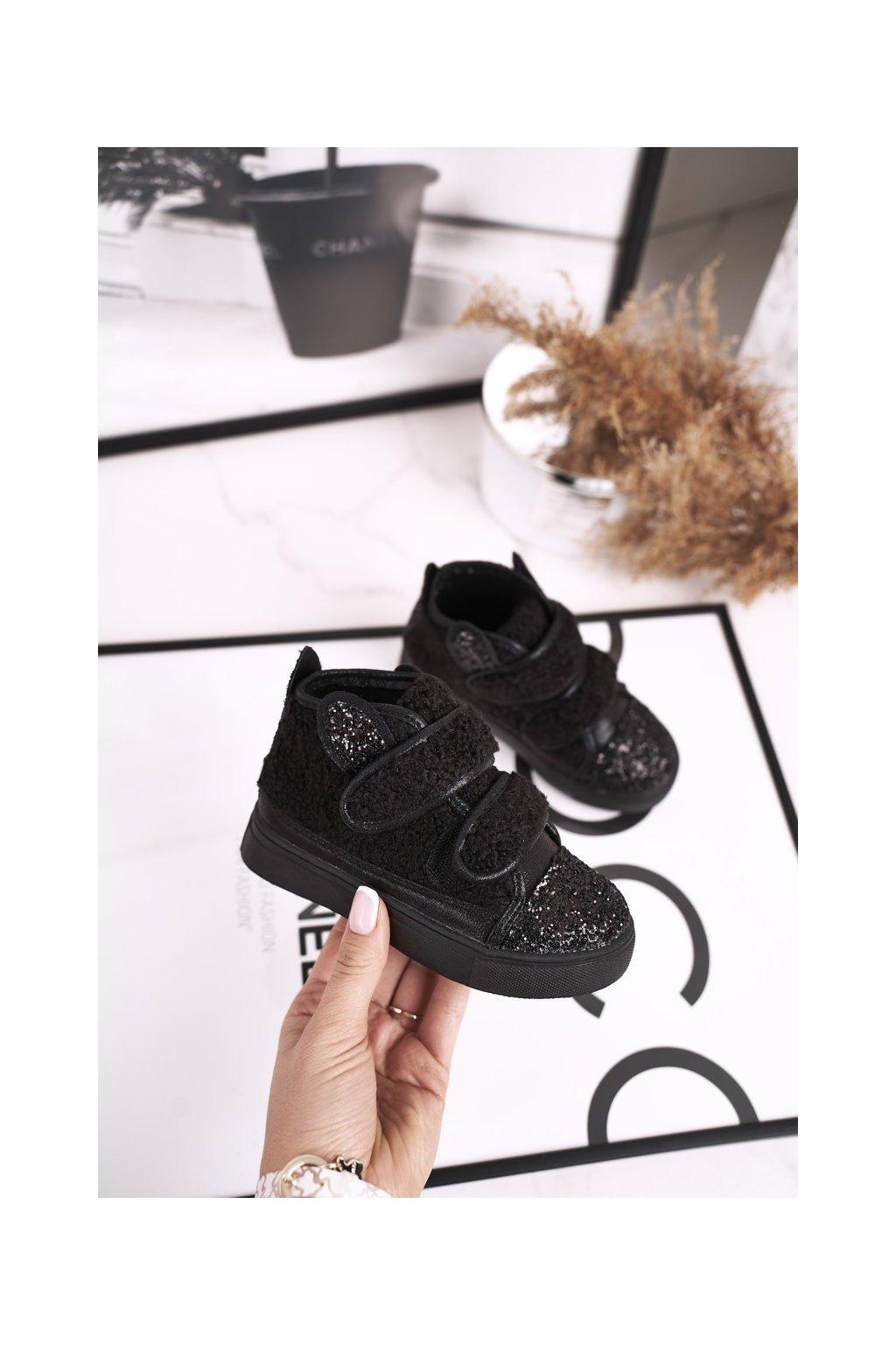 Detské tenisky farba čierna kód obuvi 1577-C BLACK