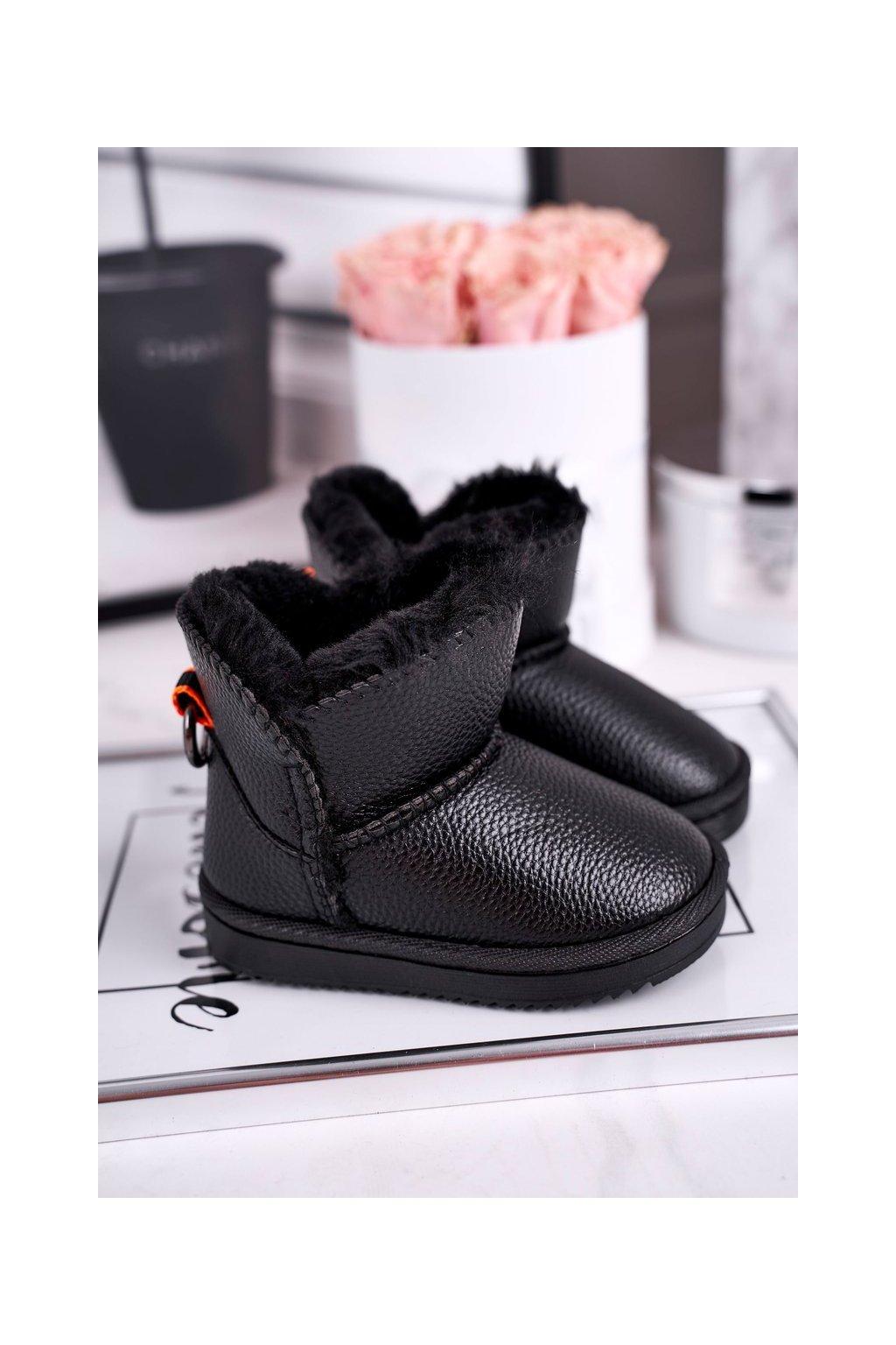 Detské členkové topánky farba čierna kód obuvi LD29 / LD30 BLK