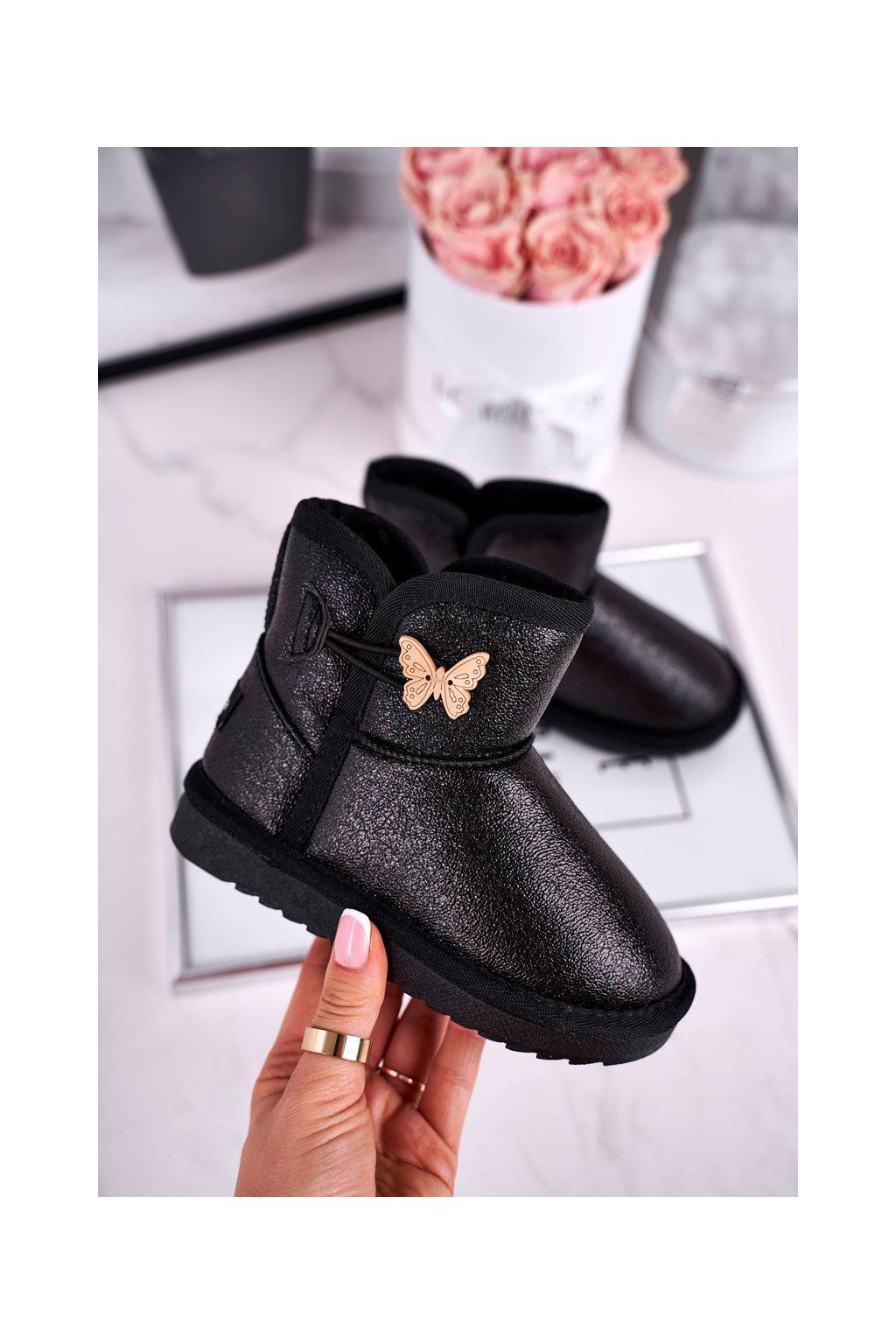 Detské snehule farba čierna kód obuvi N228 / N229 BLK