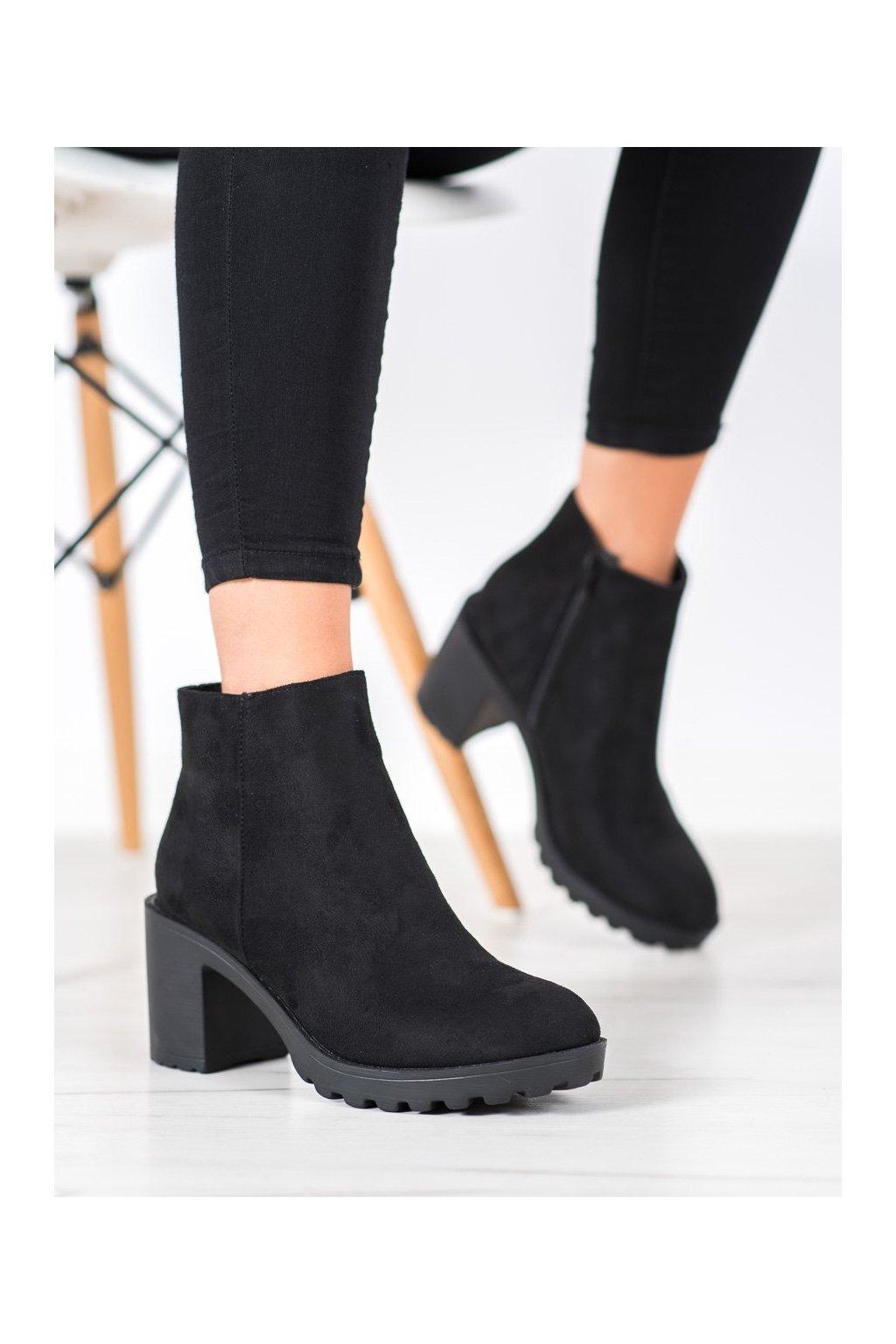 Čierne dámske topánky Laura mode kod FH001B