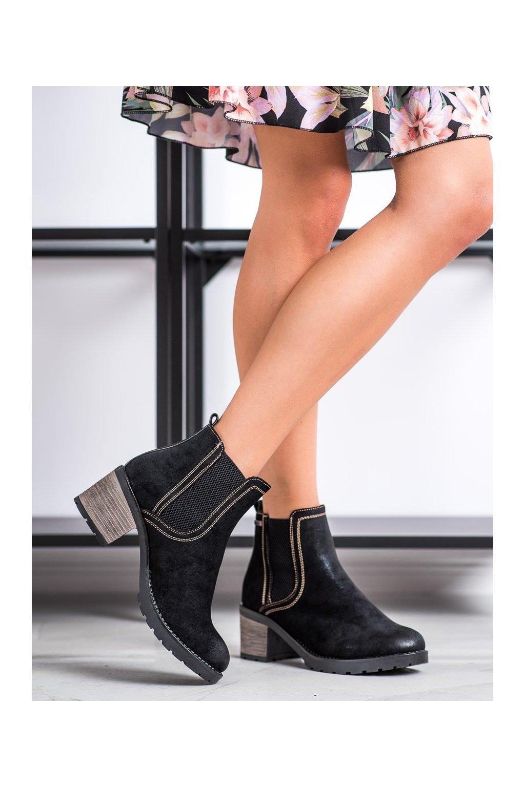 Čierne dámske topánky Shelovet kod 20BT35-3029B