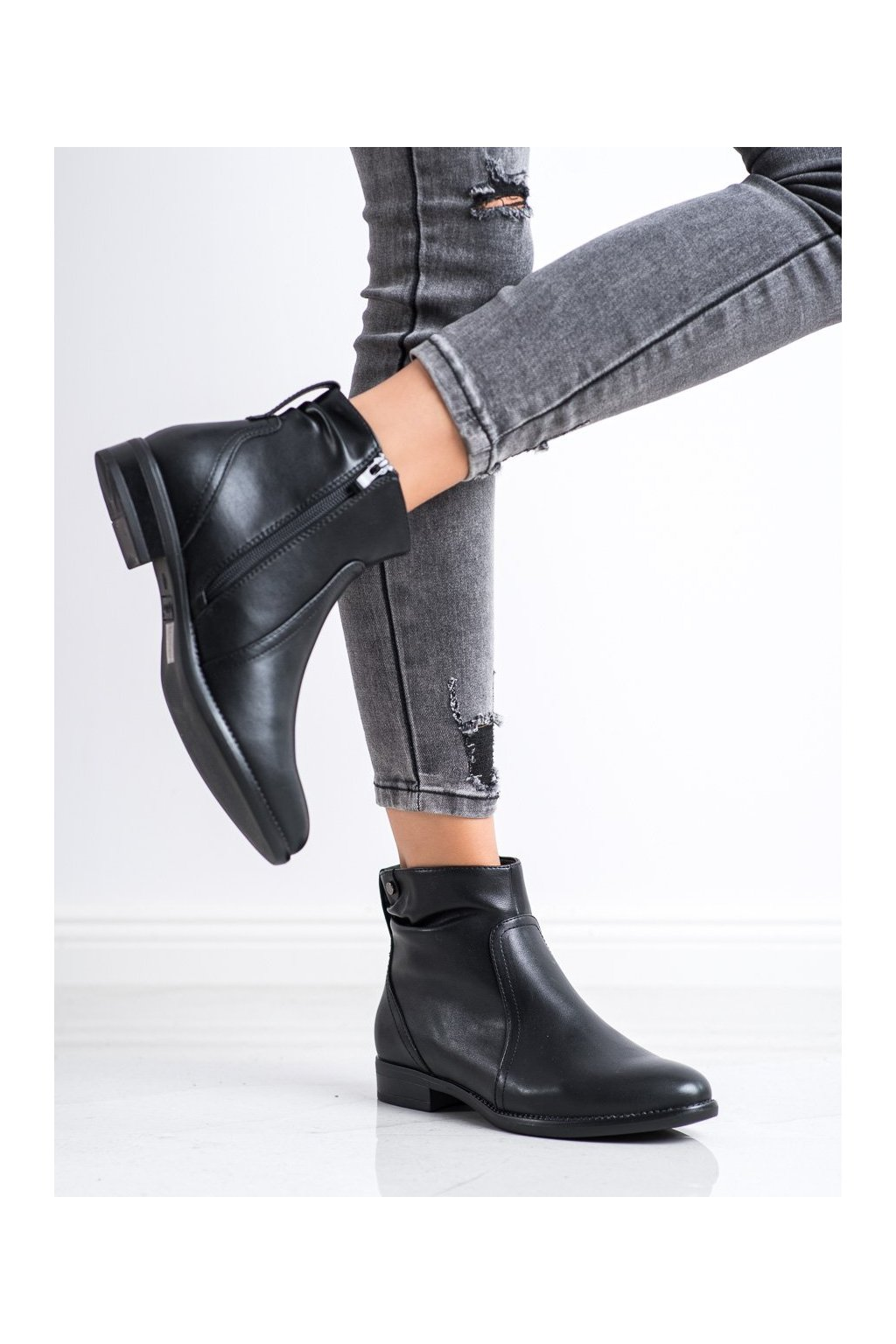 Čierne dámske topánky Sergio leone kod BT504B