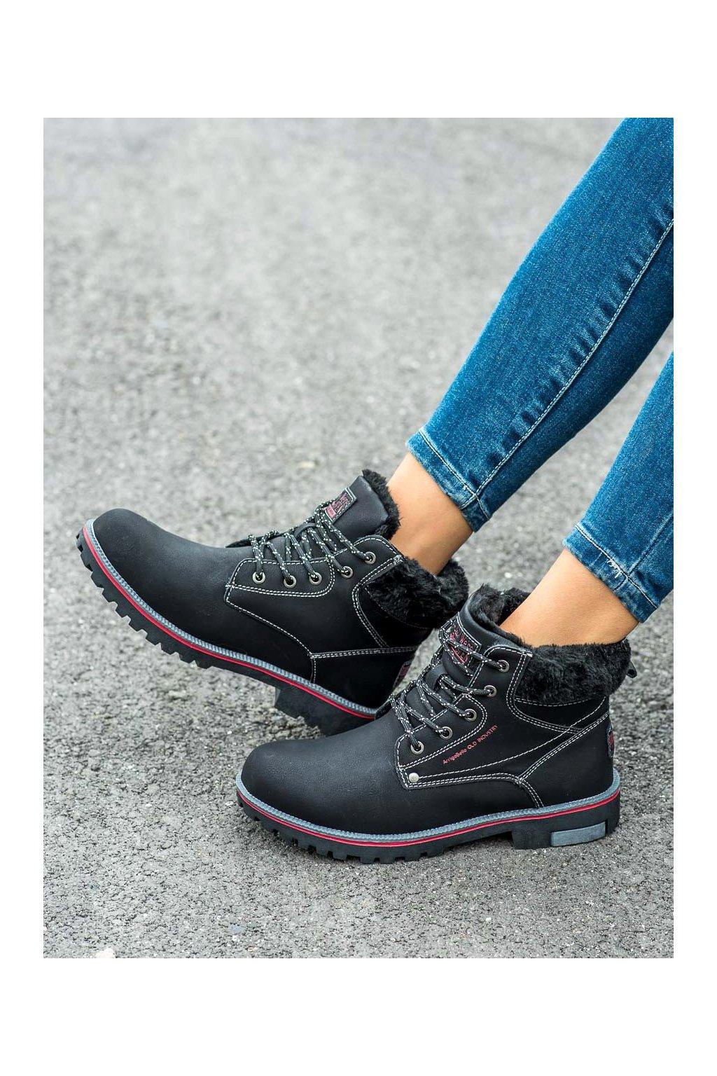 Čierne trekkingové dámske topánky Arrigo bello kod BM9264B