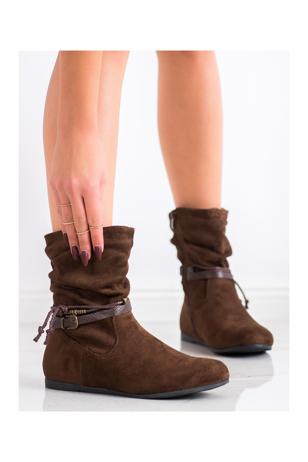 Hnedé dámske topánky Shelovet kod DH28BR