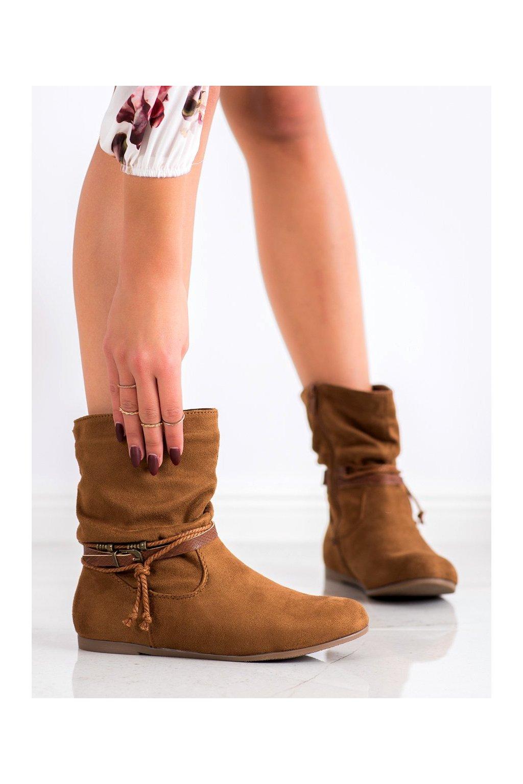Hnedé dámske topánky Shelovet kod DH28C