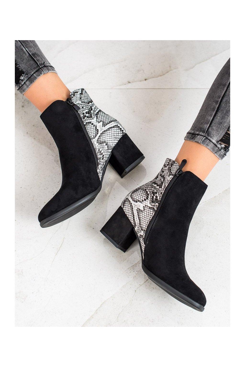 Čierne dámske topánky Filippo kod DBT977/19B-G