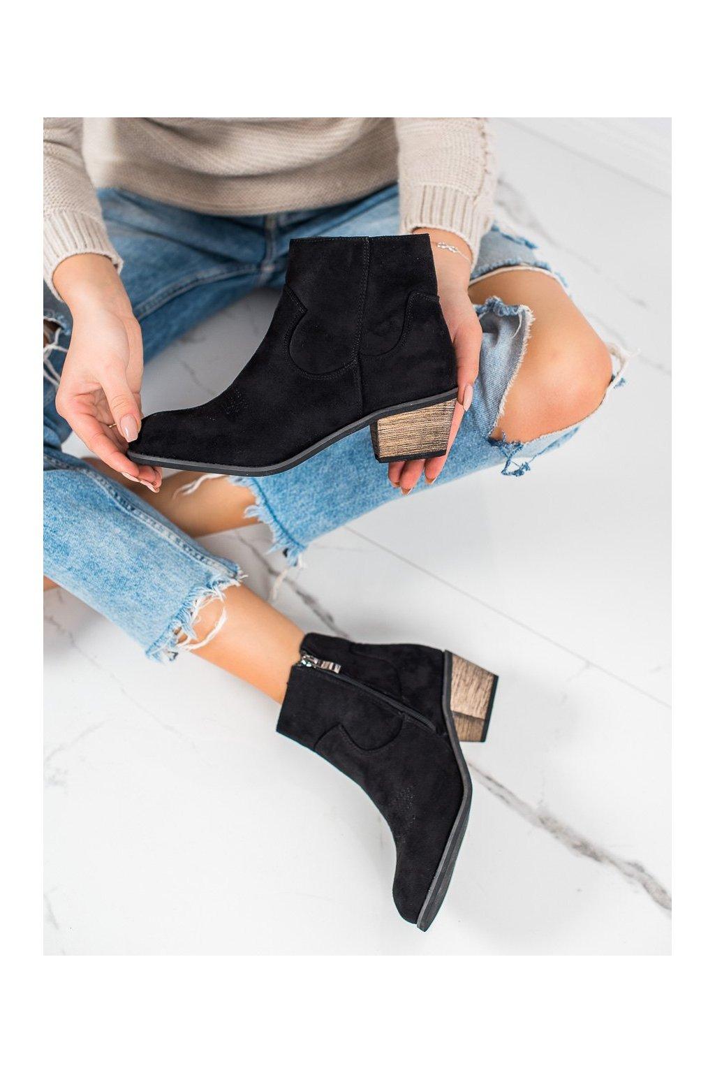 Čierne dámske topánky Best shoes kod CM-8M2B