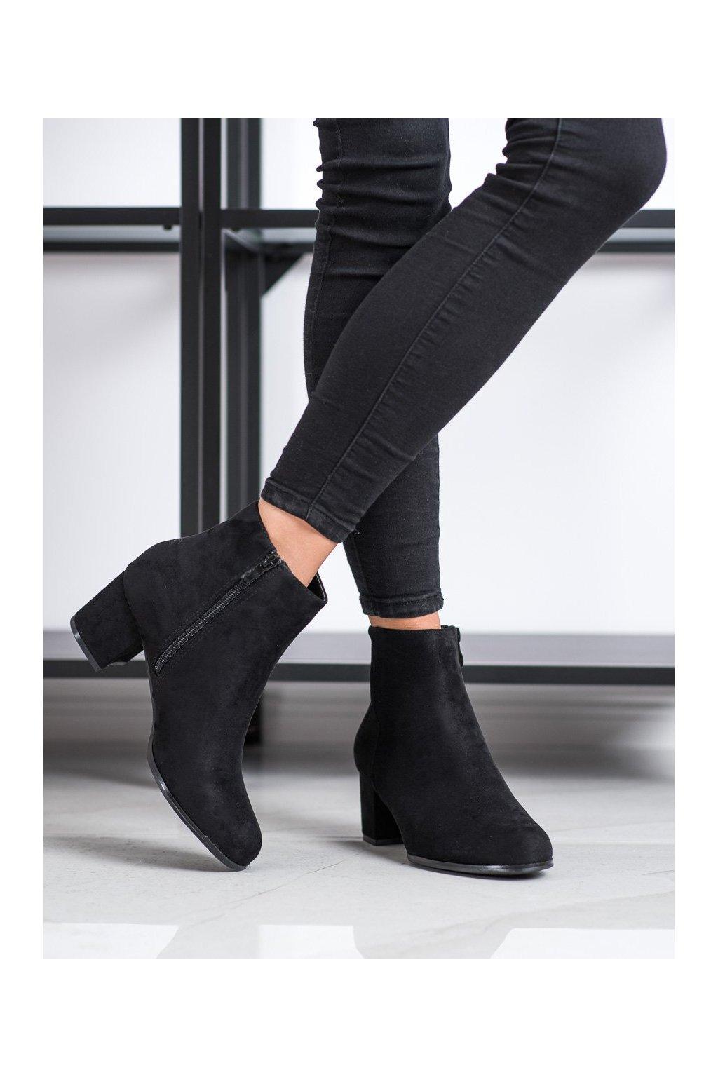 Čierne dámske topánky Lovery kod MM788B