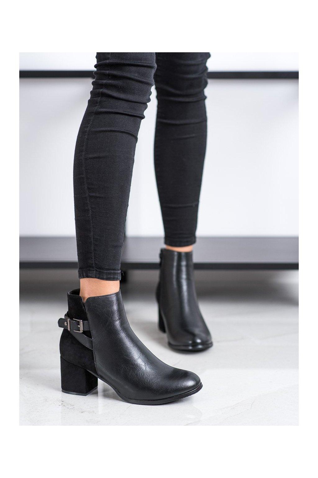 Čierne dámske topánky J. star kod A8312B