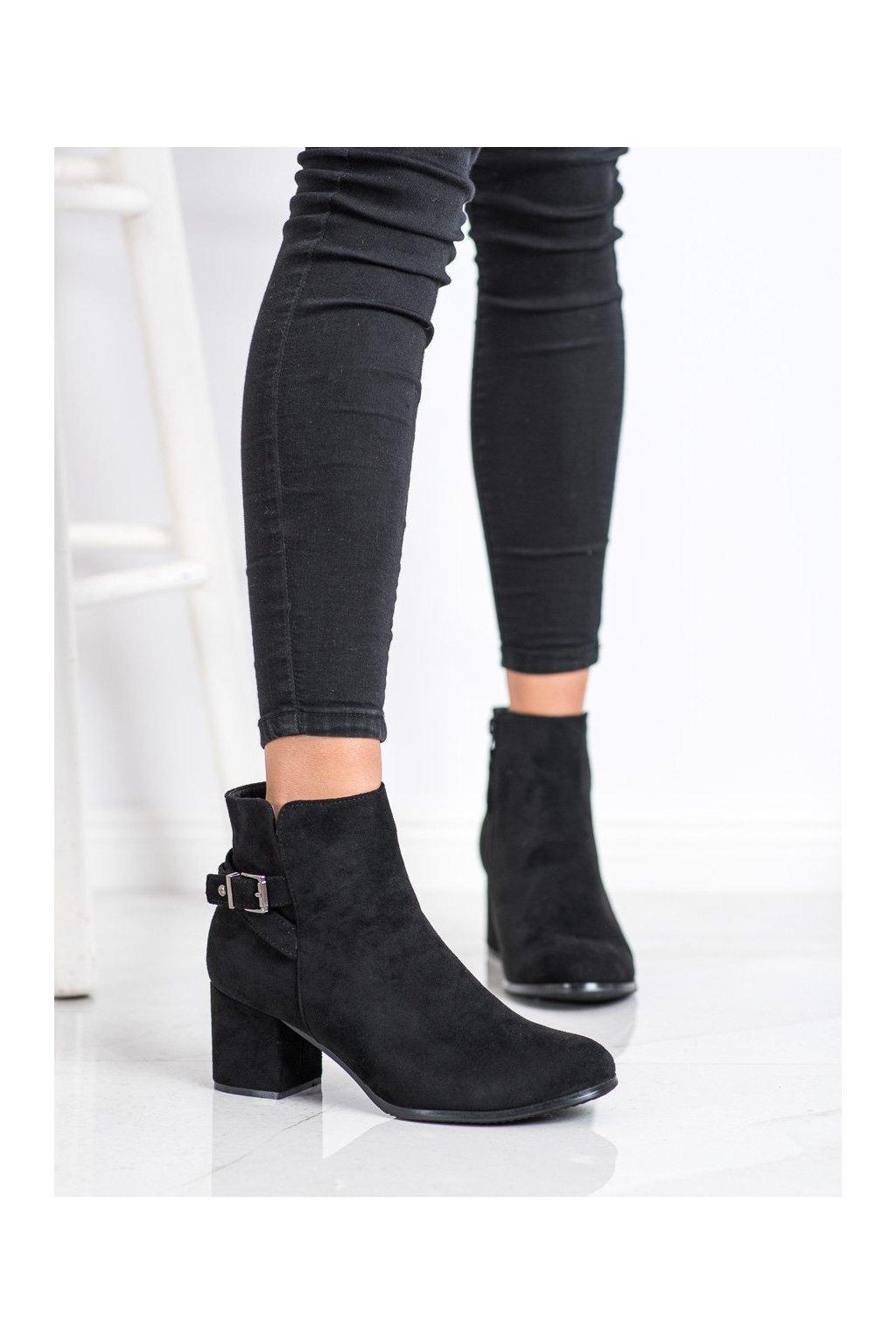 Čierne dámske topánky J. star kod A8312A-B