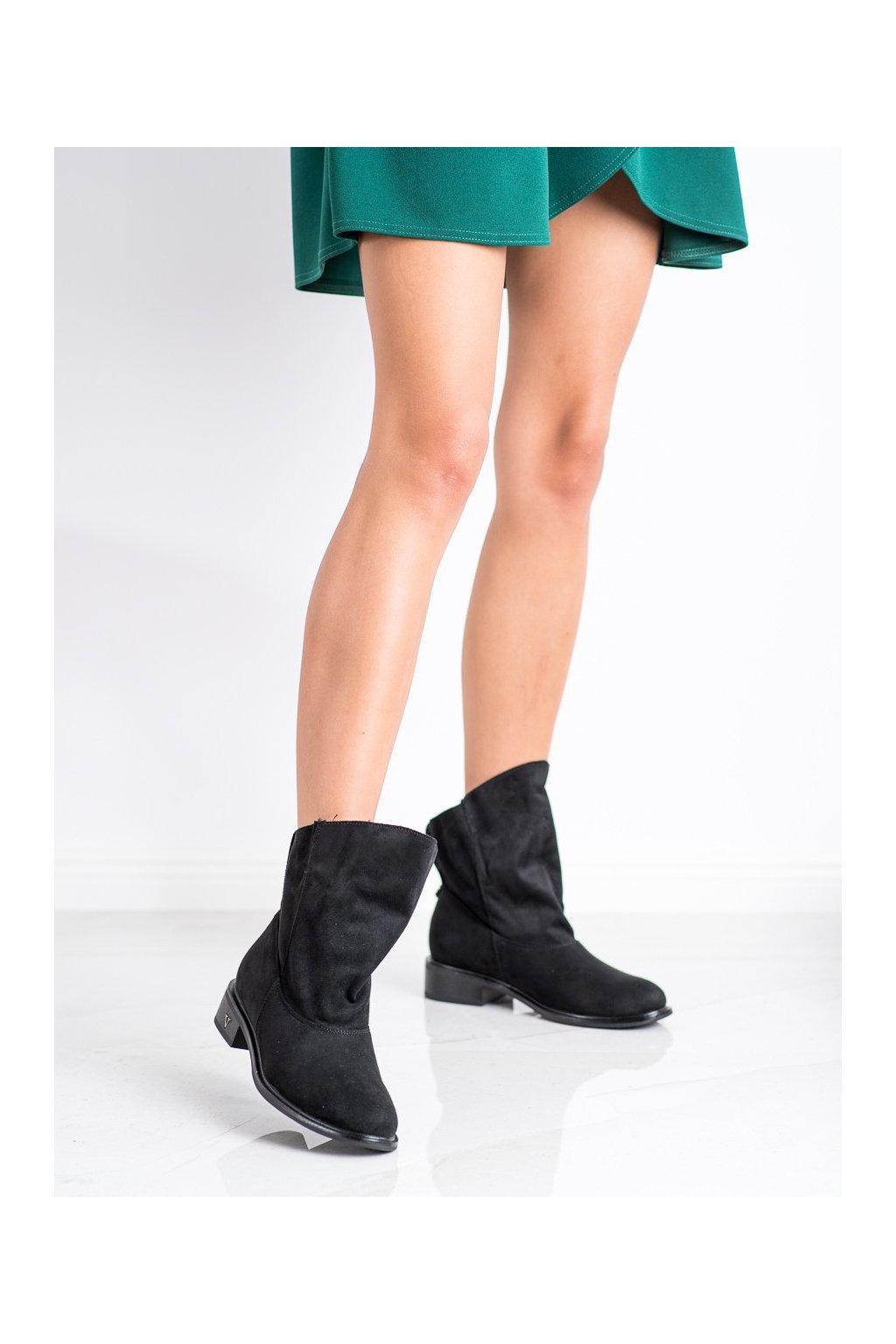 Čierne dámske topánky Gogo kod 6672B