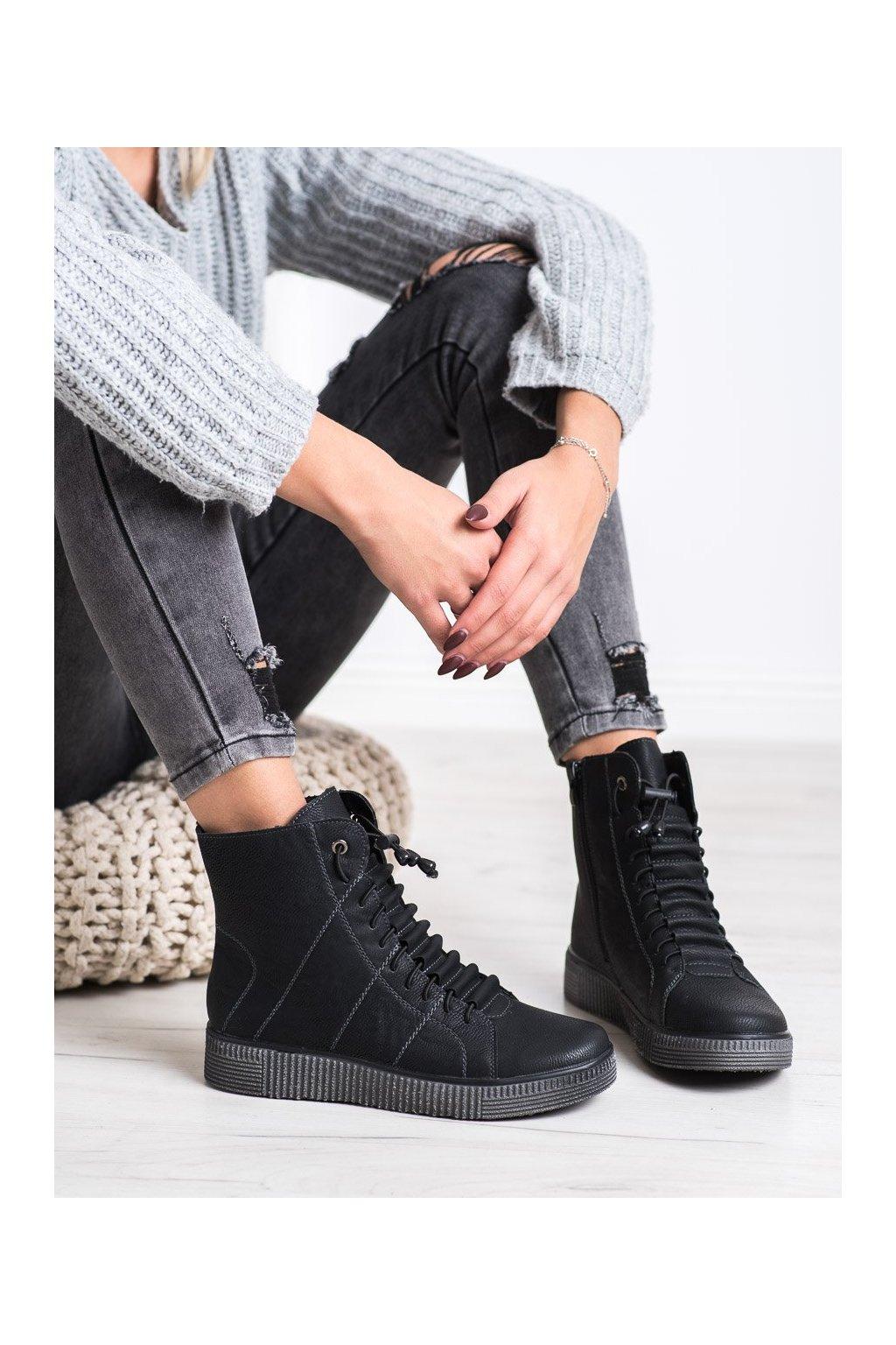 Čierne dámske topánky Shelovet kod 7756A-B