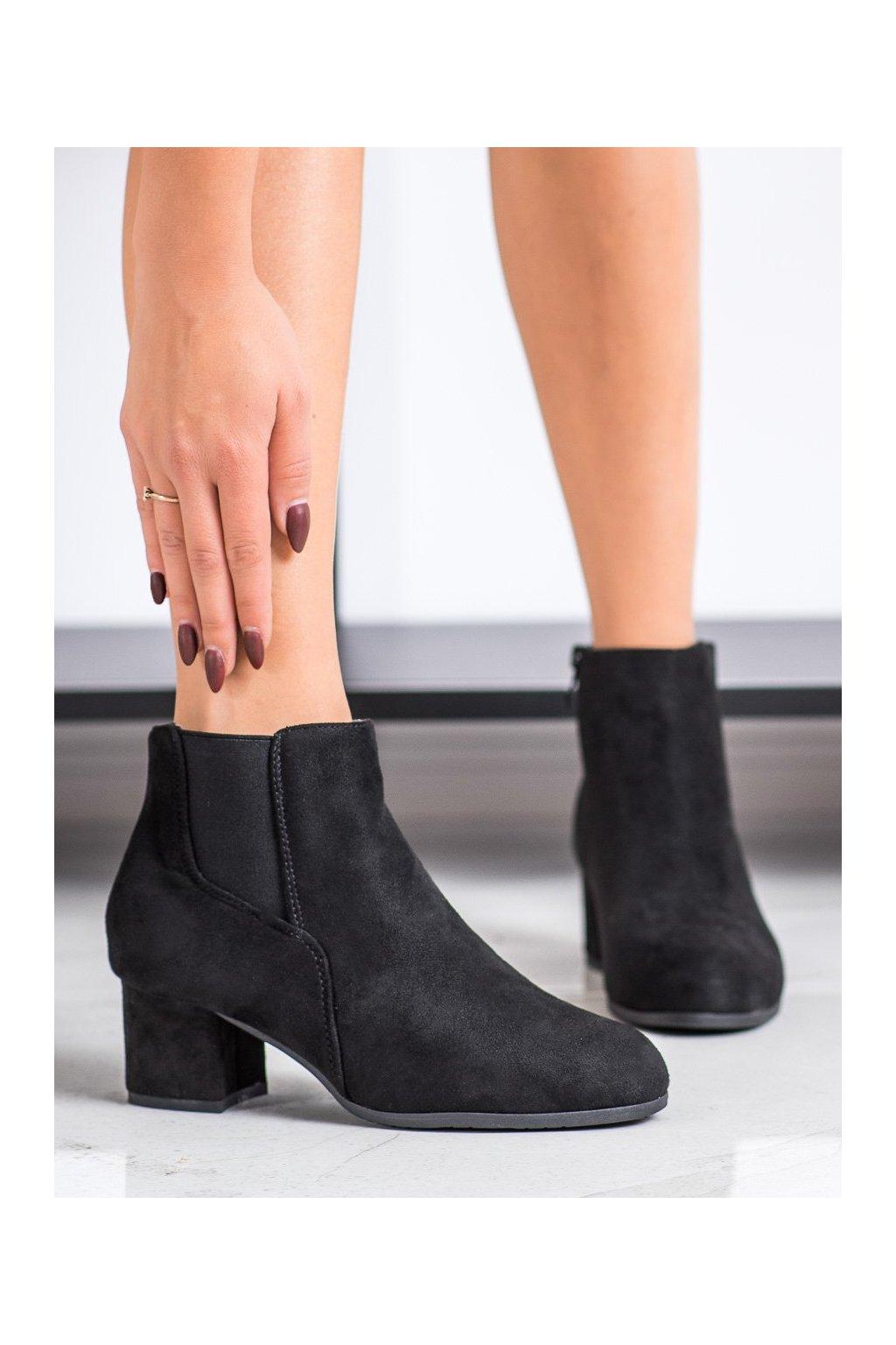 Čierne dámske topánky Clowse kod 9B1100B