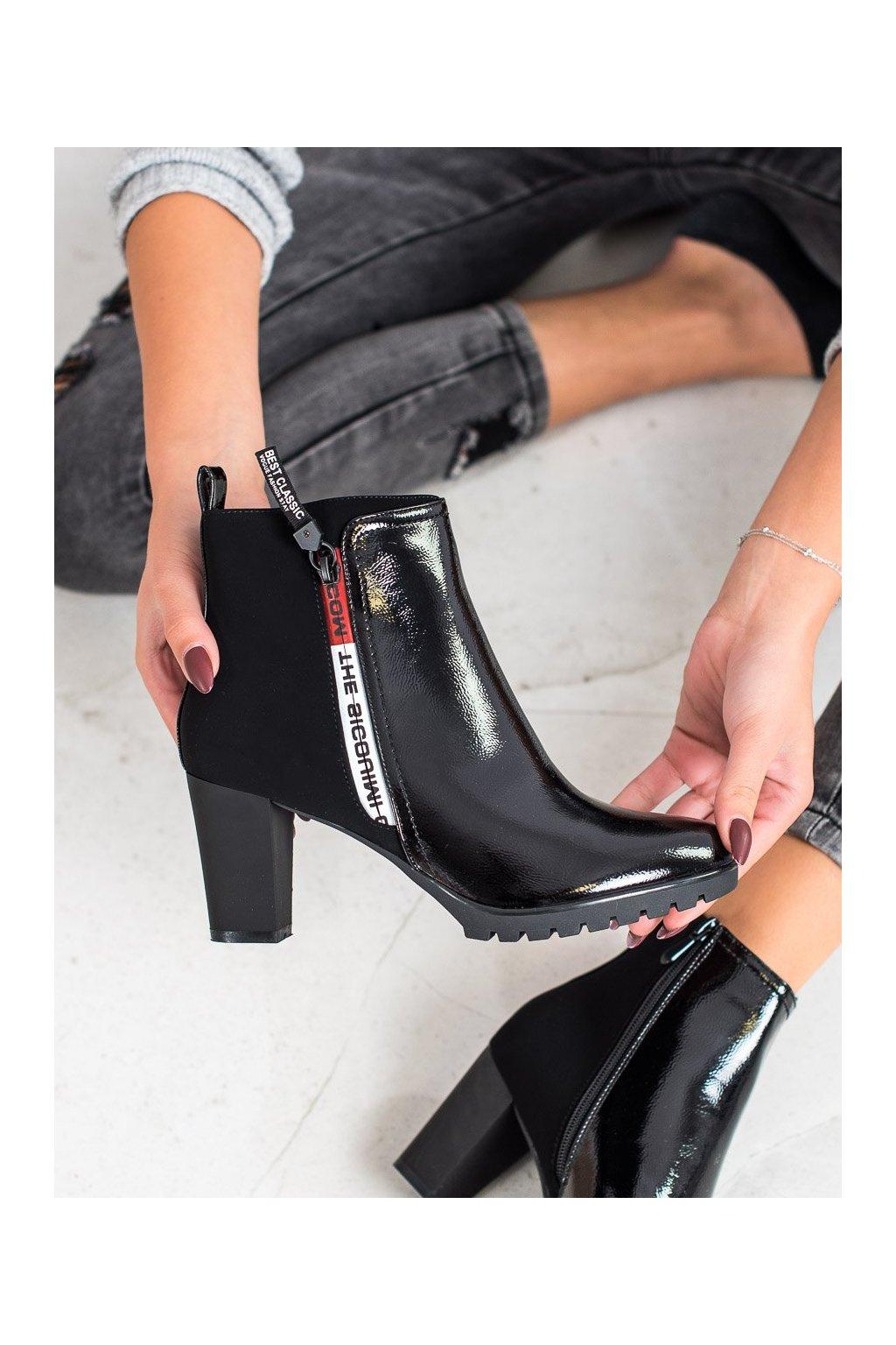 Čierne dámske topánky Gogo kod SG-353B