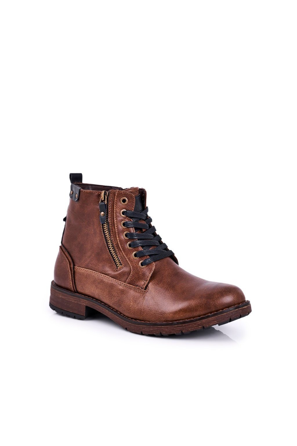 Pánske topánky na zimu farba hnedá kód obuvi 9MN29-1388 BROWN