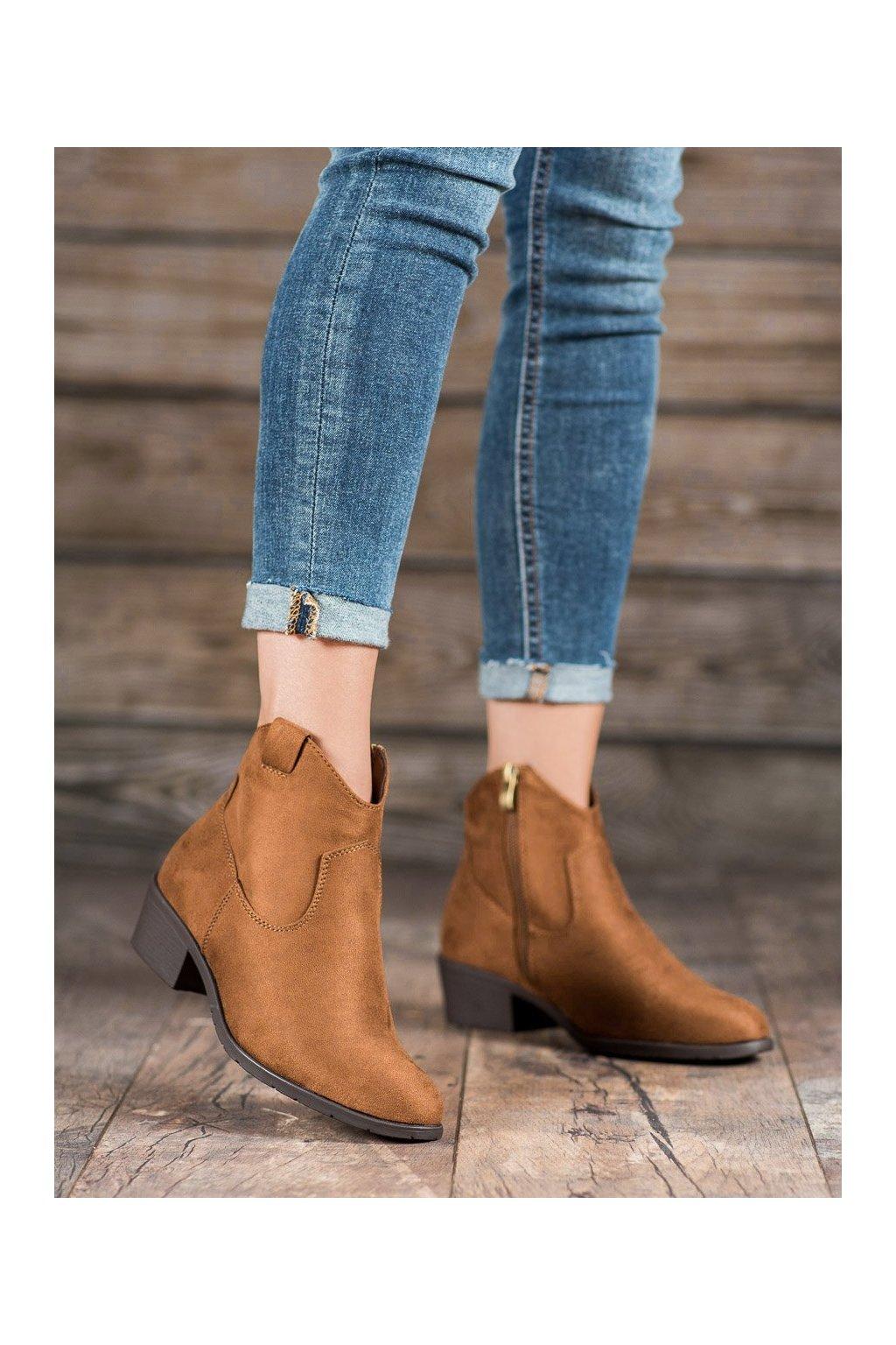 Hnedé dámske topánky Filippo kod DBT1046/19BR
