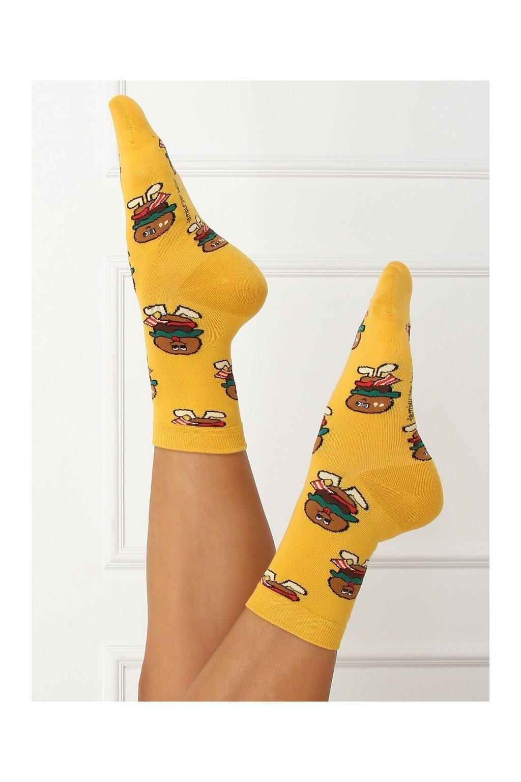 Damske ponožky žlté SK-NZC6575
