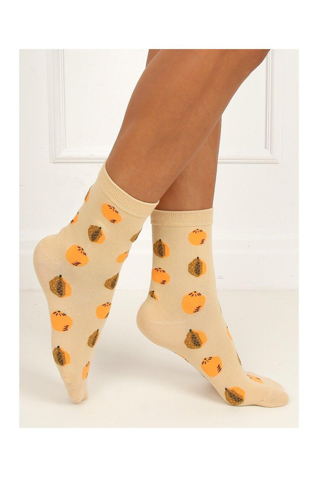 Damske ponožky hnedé SK-NPC6886