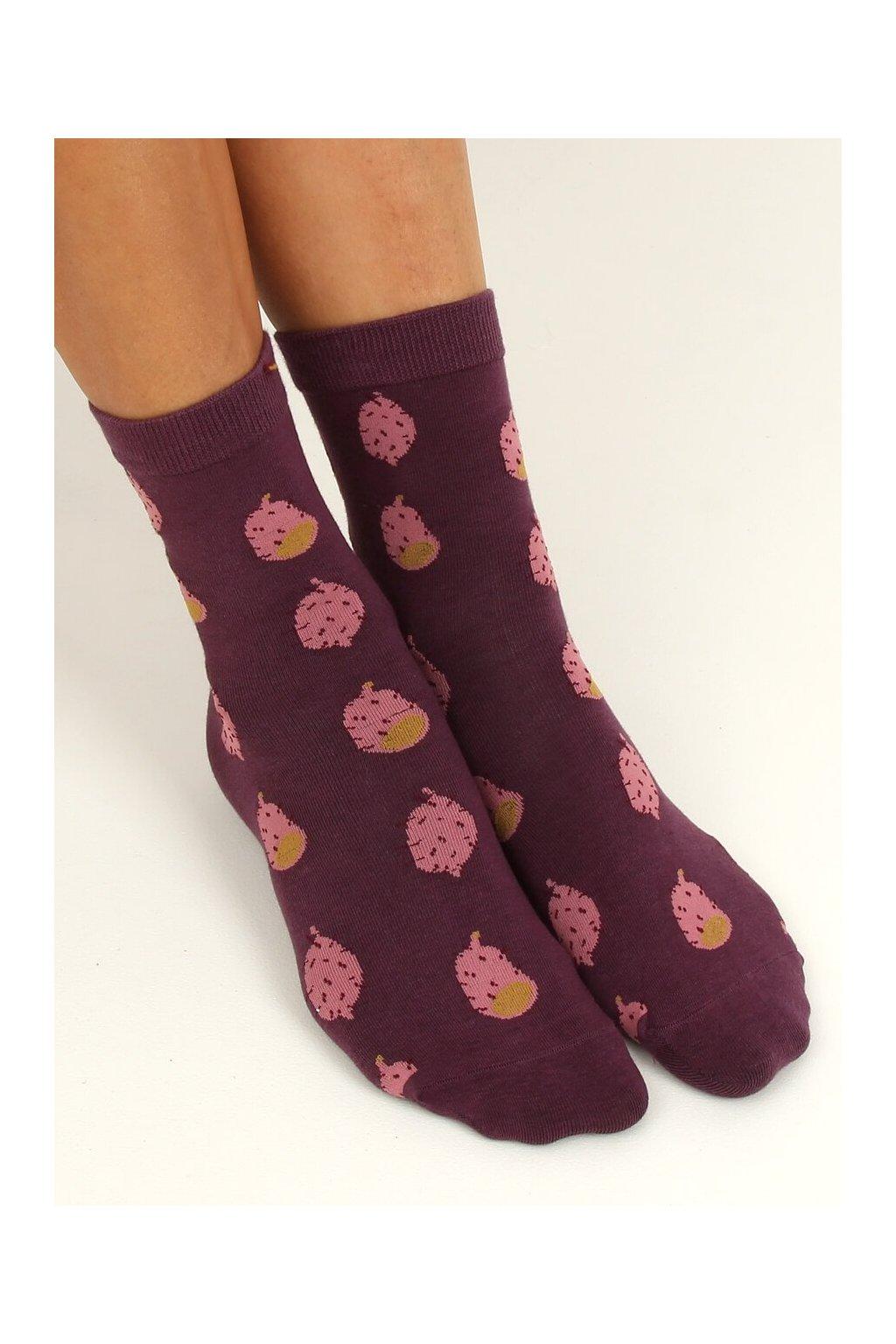 Damske ponožky fialové SK-NPC6886