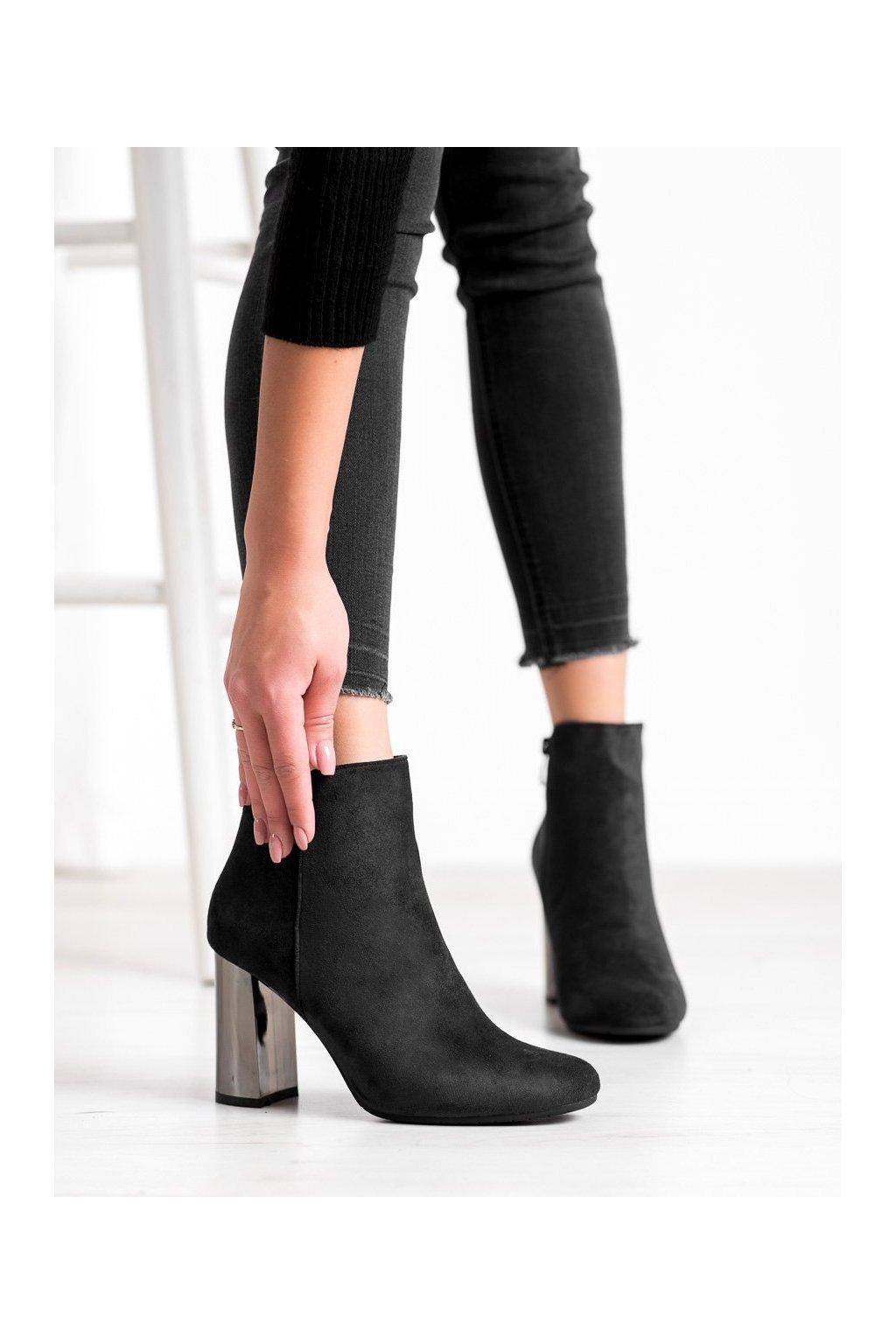 Čierne dámske topánky Janessa kod KL-705B