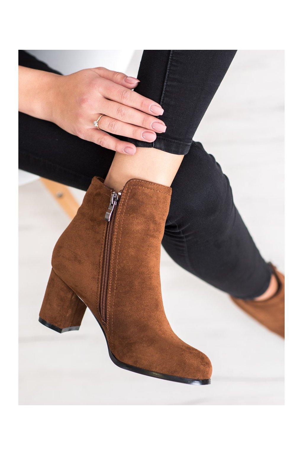 Hnedé dámske topánky Wilady kod SO-25C