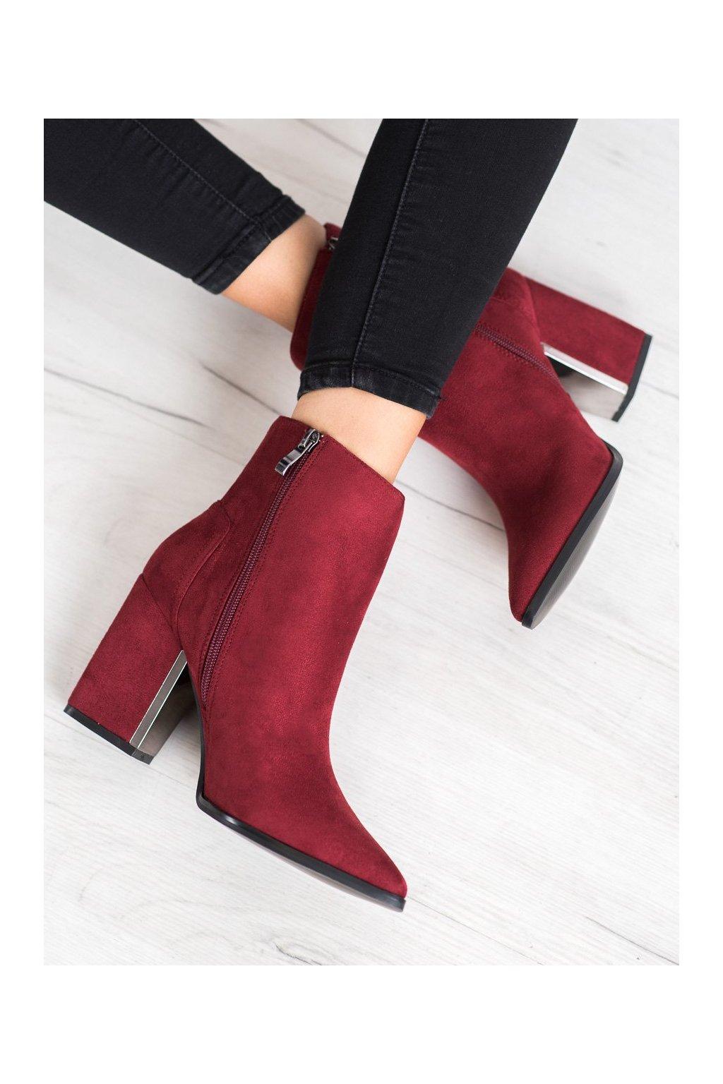 Červené dámske topánky Corina kod C9872BUR