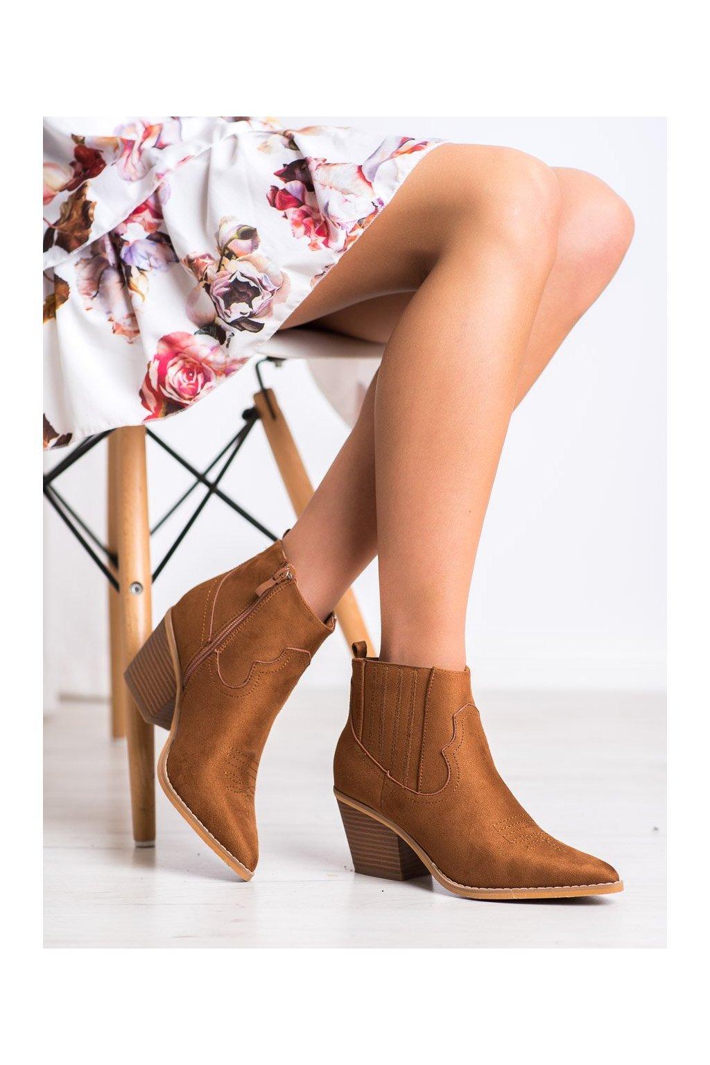 Hnedé dámske topánky Shelovet kod 888-112C