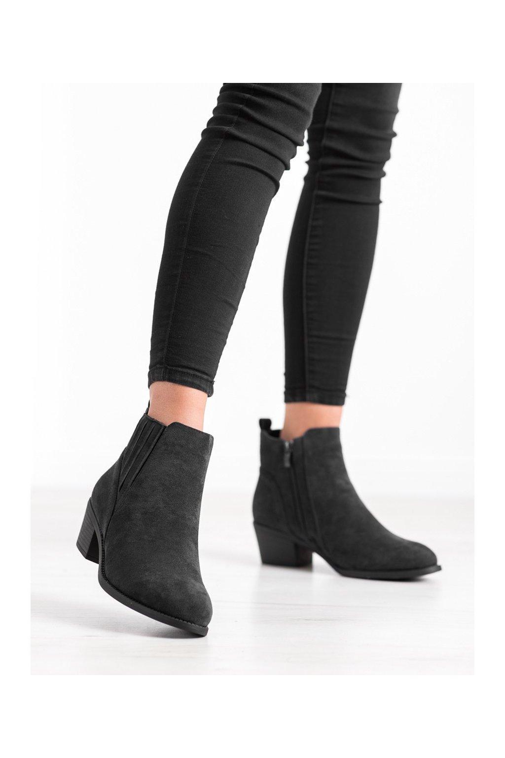 Čierne dámske topánky Camo kod 2411B