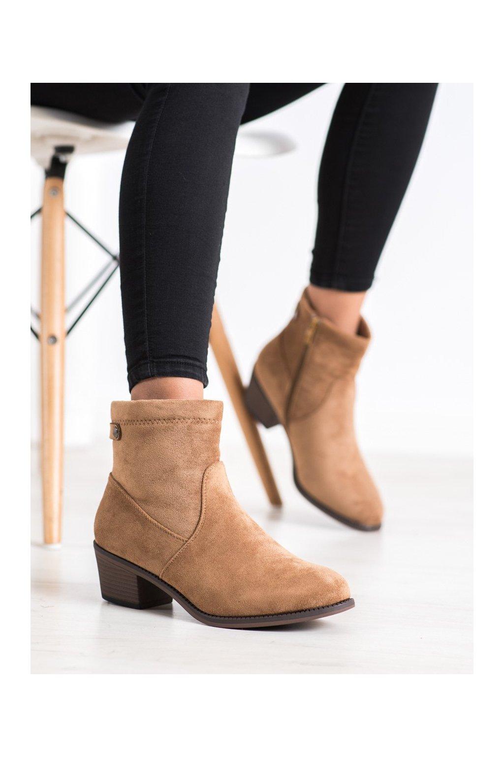 Hnedé dámske topánky Camo kod 2404C